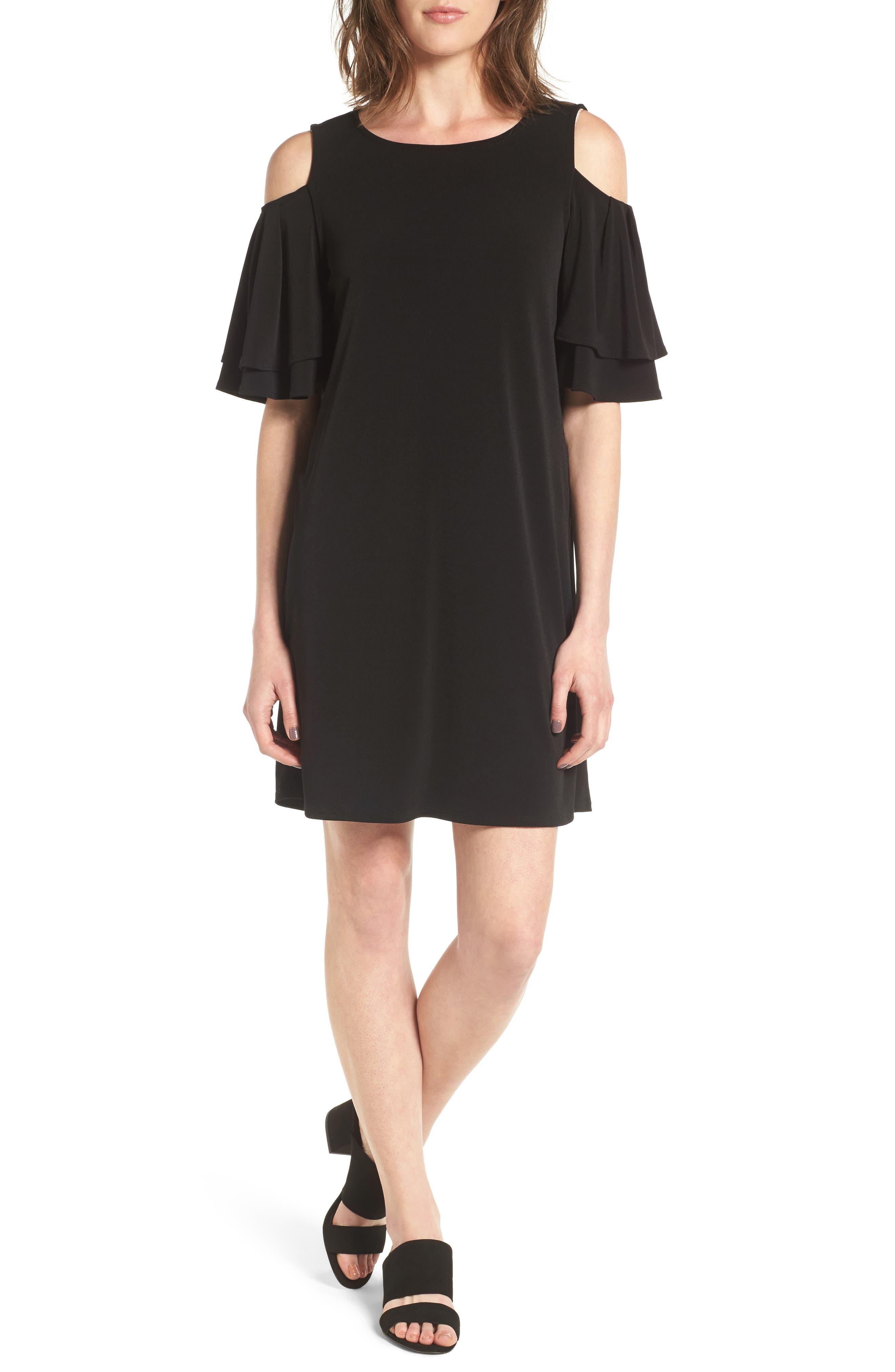 Main Image - Halogen® Cold Shoulder Shift Dress
