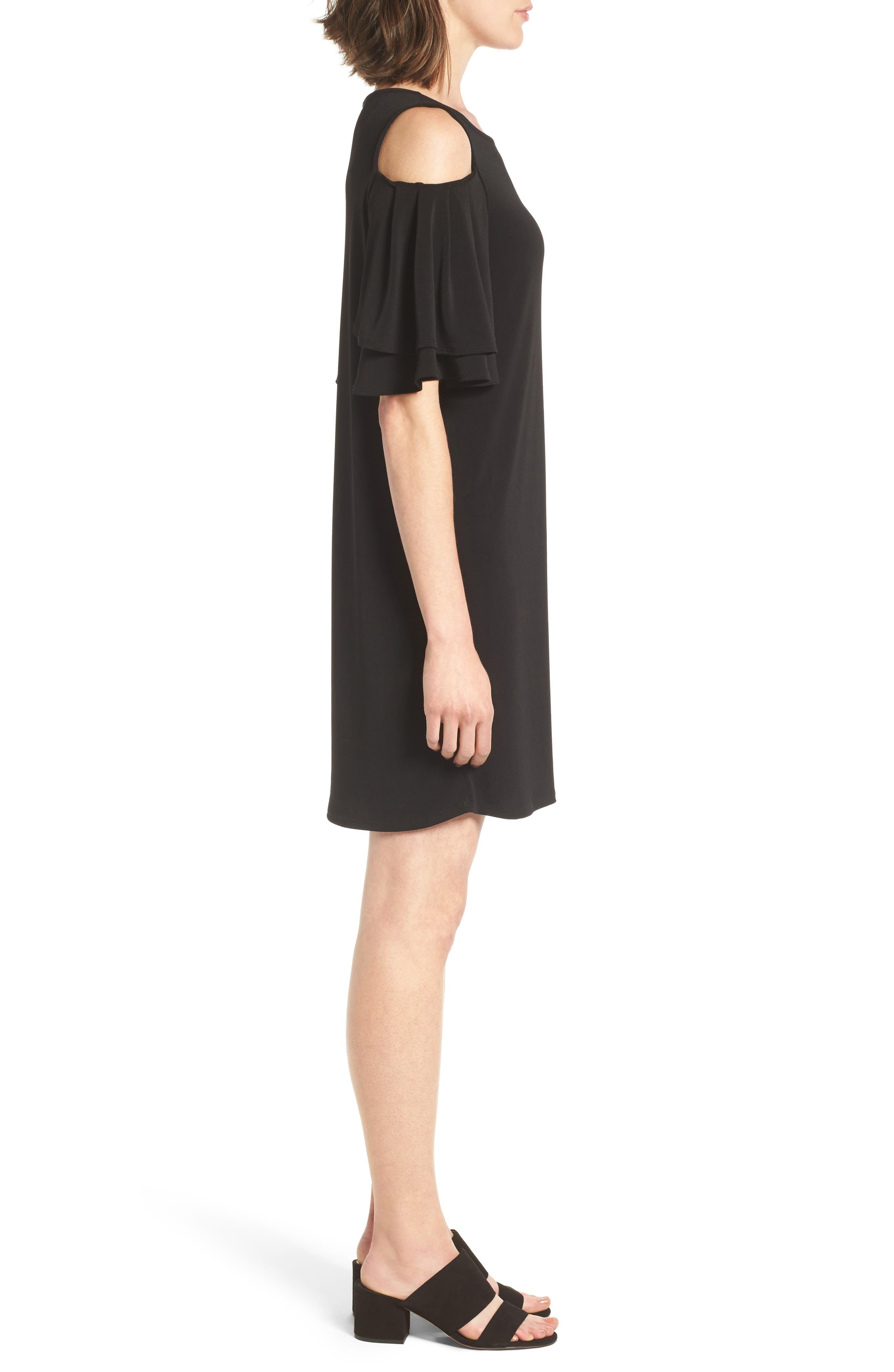 Alternate Image 3  - Halogen® Cold Shoulder Shift Dress