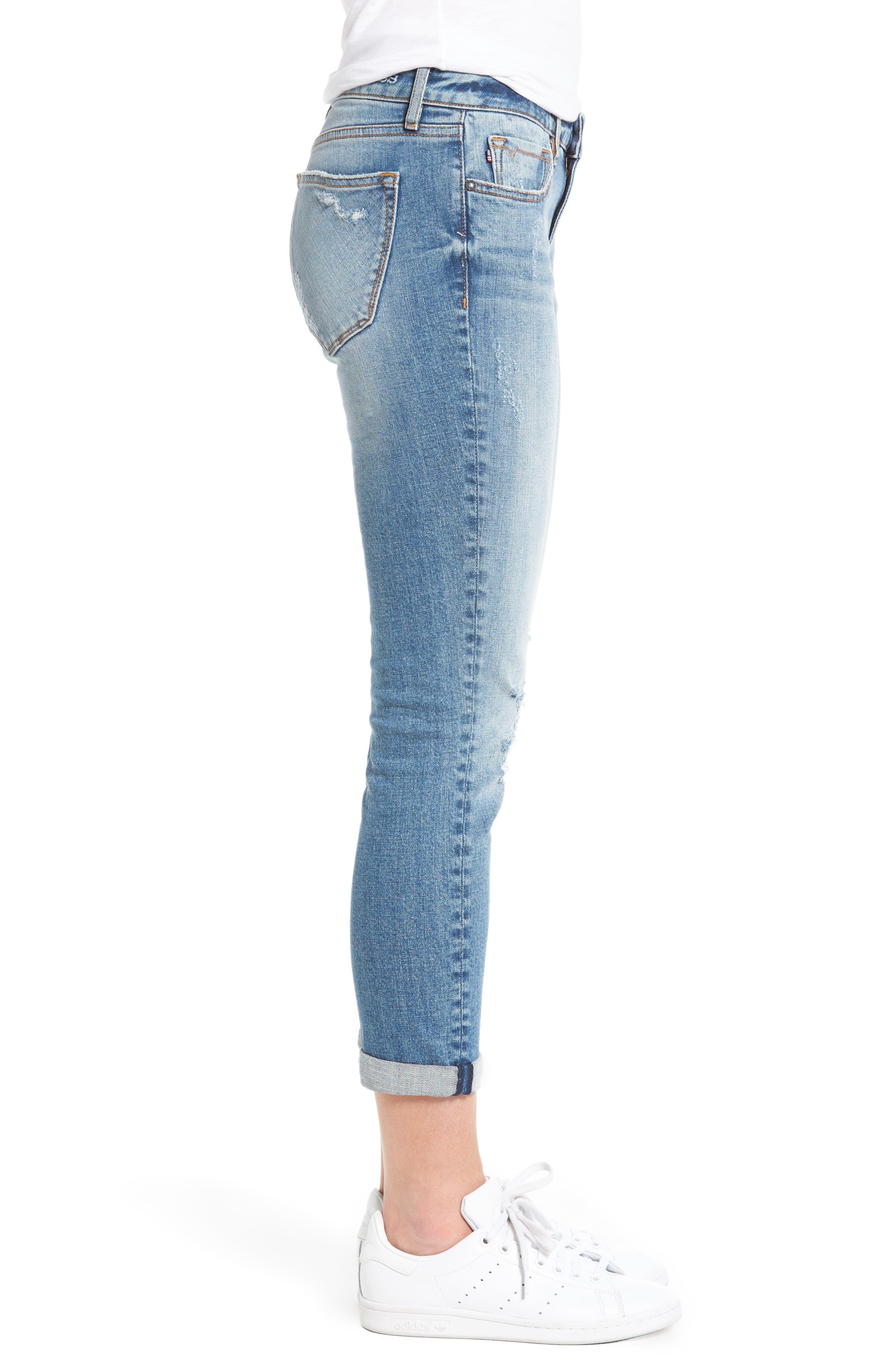 Alternate Image 3  - Vigoss Tomboy Ripped Skinny Jeans