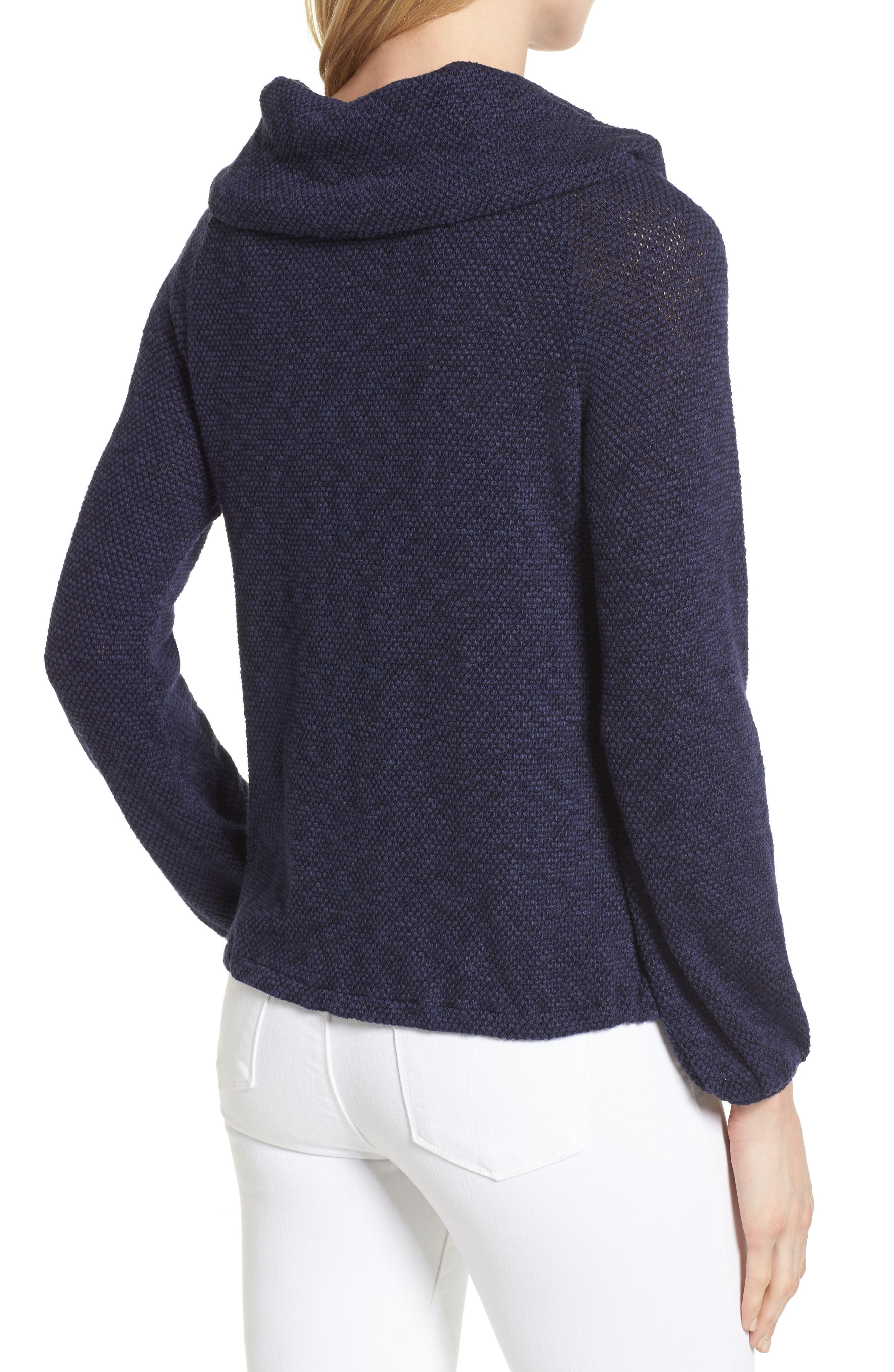 Alternate Image 2  - Caslon® Convertible Off the Shoulder Pullover (Regular & Petite)