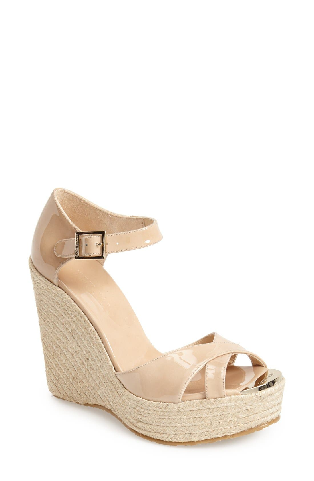 Alternate Image 1 Selected - Jimmy Choo 'Pallis' Wedge Sandal (Nordstrom Exclusive)