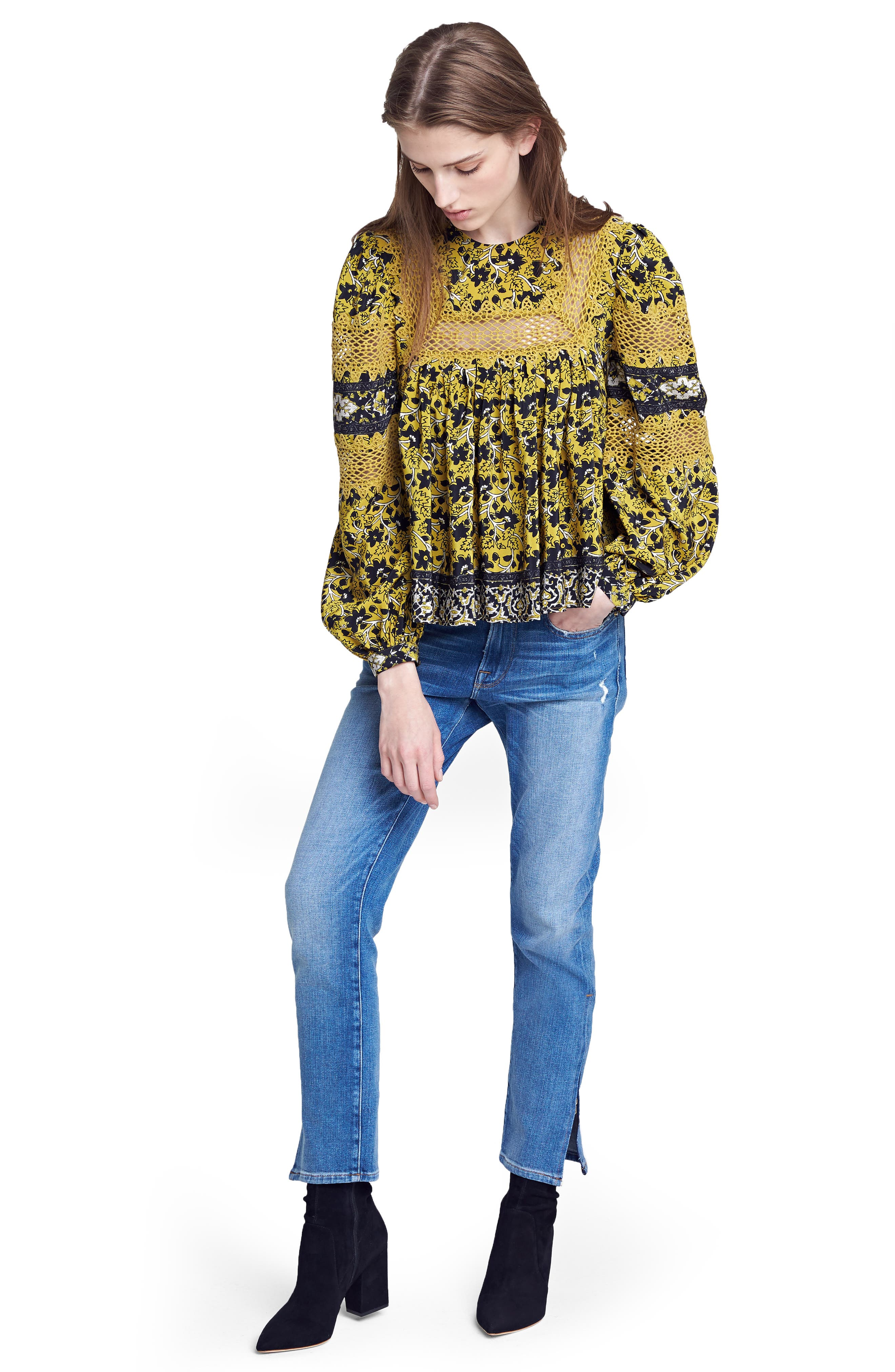 Sea Blouse & FRAME Jeans Outfit with Accessories