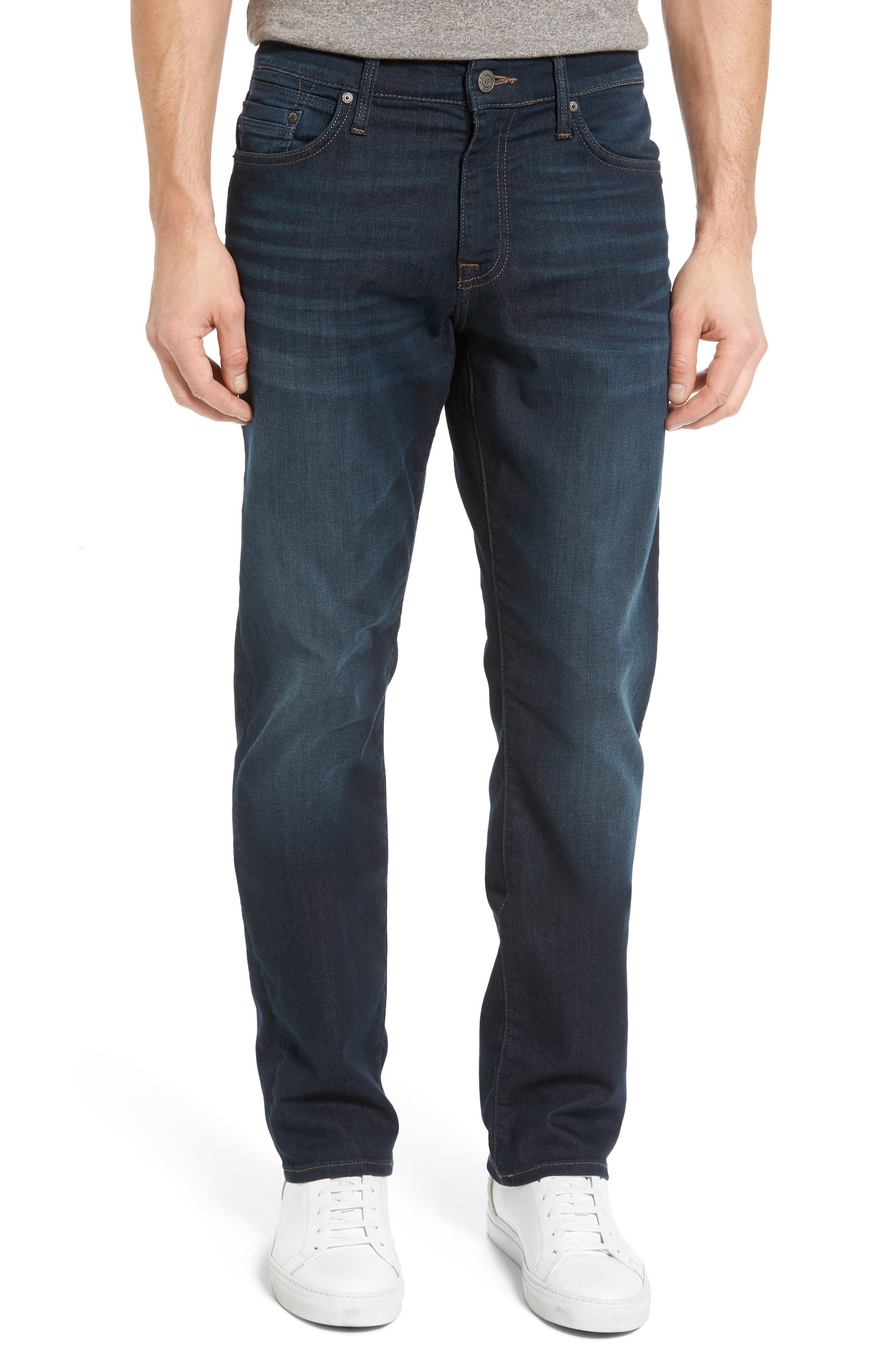 Mavi Jeans Myles Straight Leg Jeans (Deep Georgetown)
