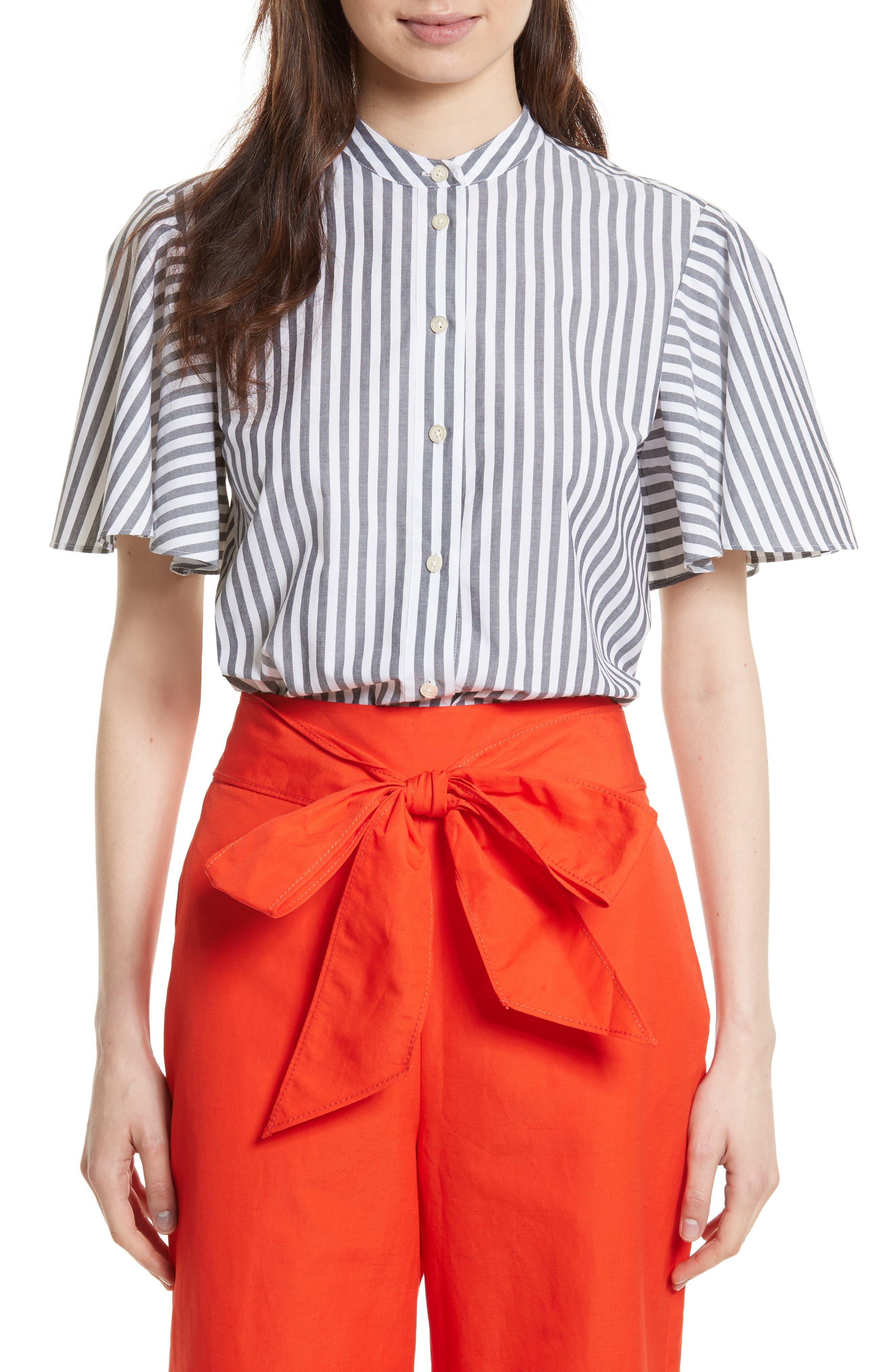 kate spade new york stripe cotton top