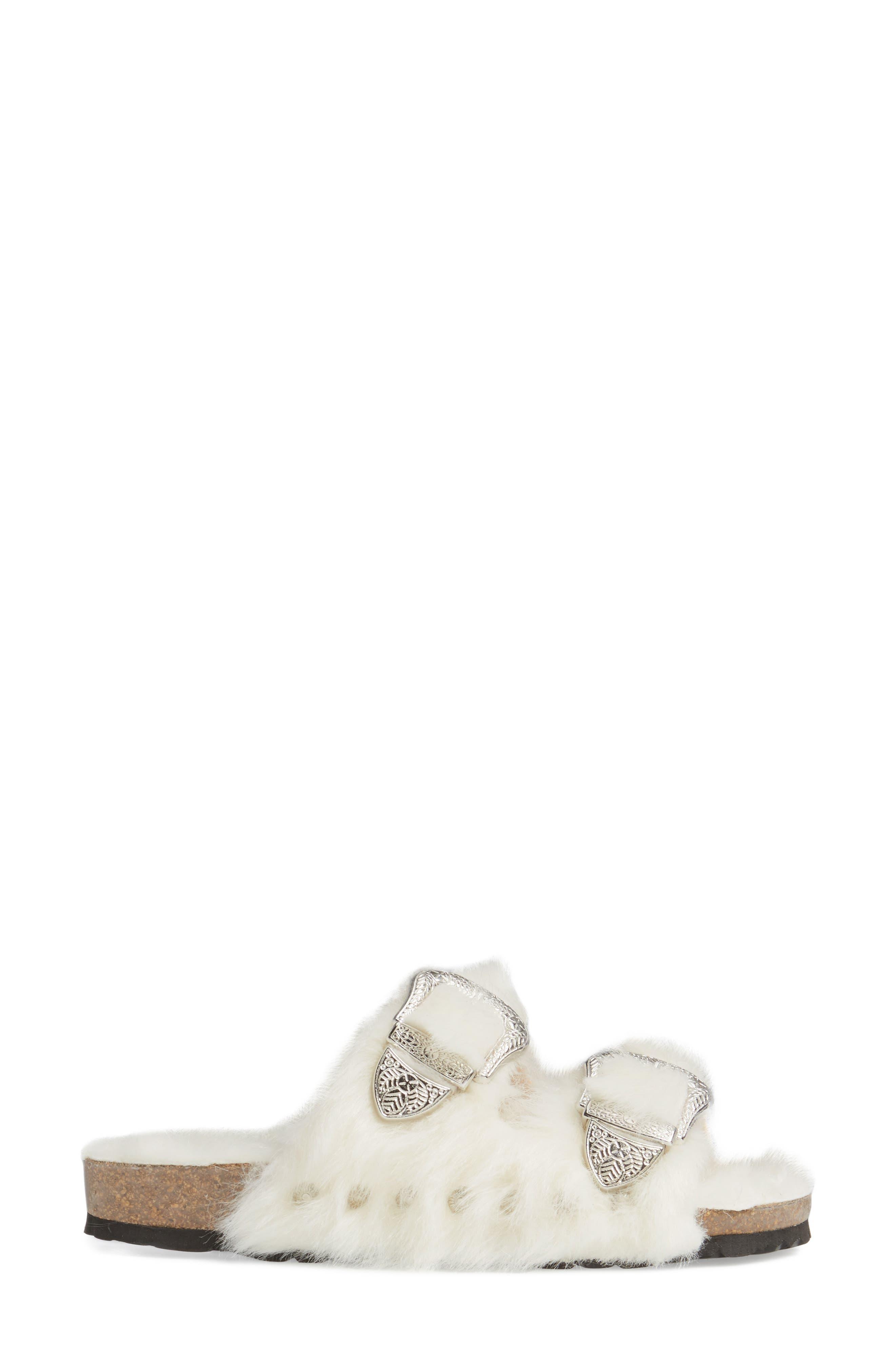 Alternate Image 3  - Topshop Falcon Faux Fur Slide Sandal (Women)