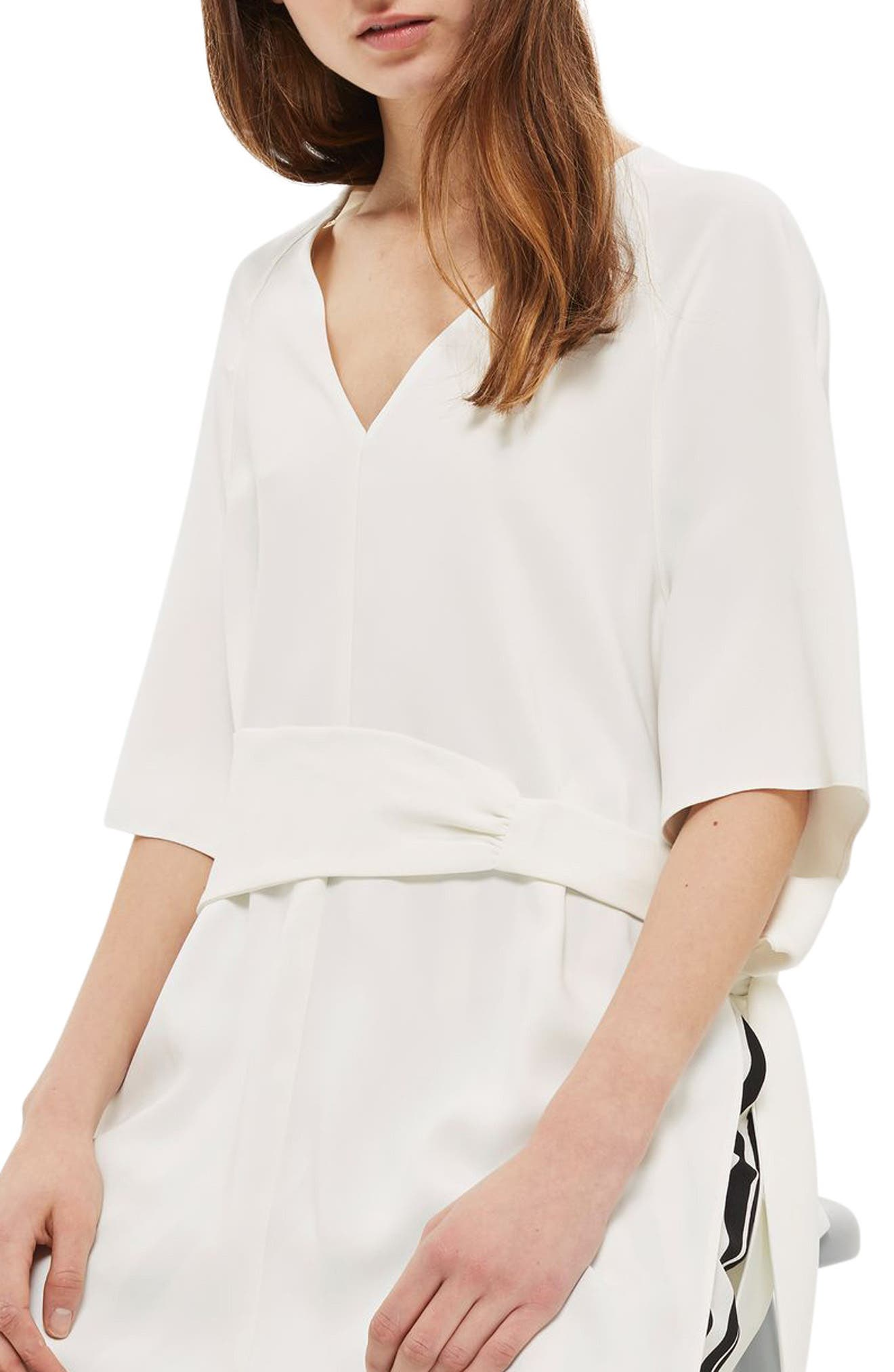 Topshop Belted Kimono Tunic