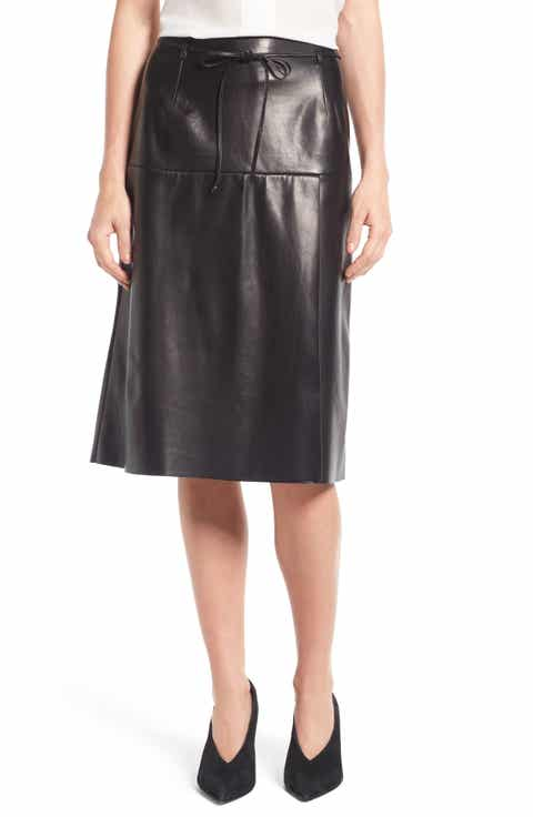 Leather (Genuine) Skirts: A-Line, Pencil, Maxi, Miniskirts & More ...