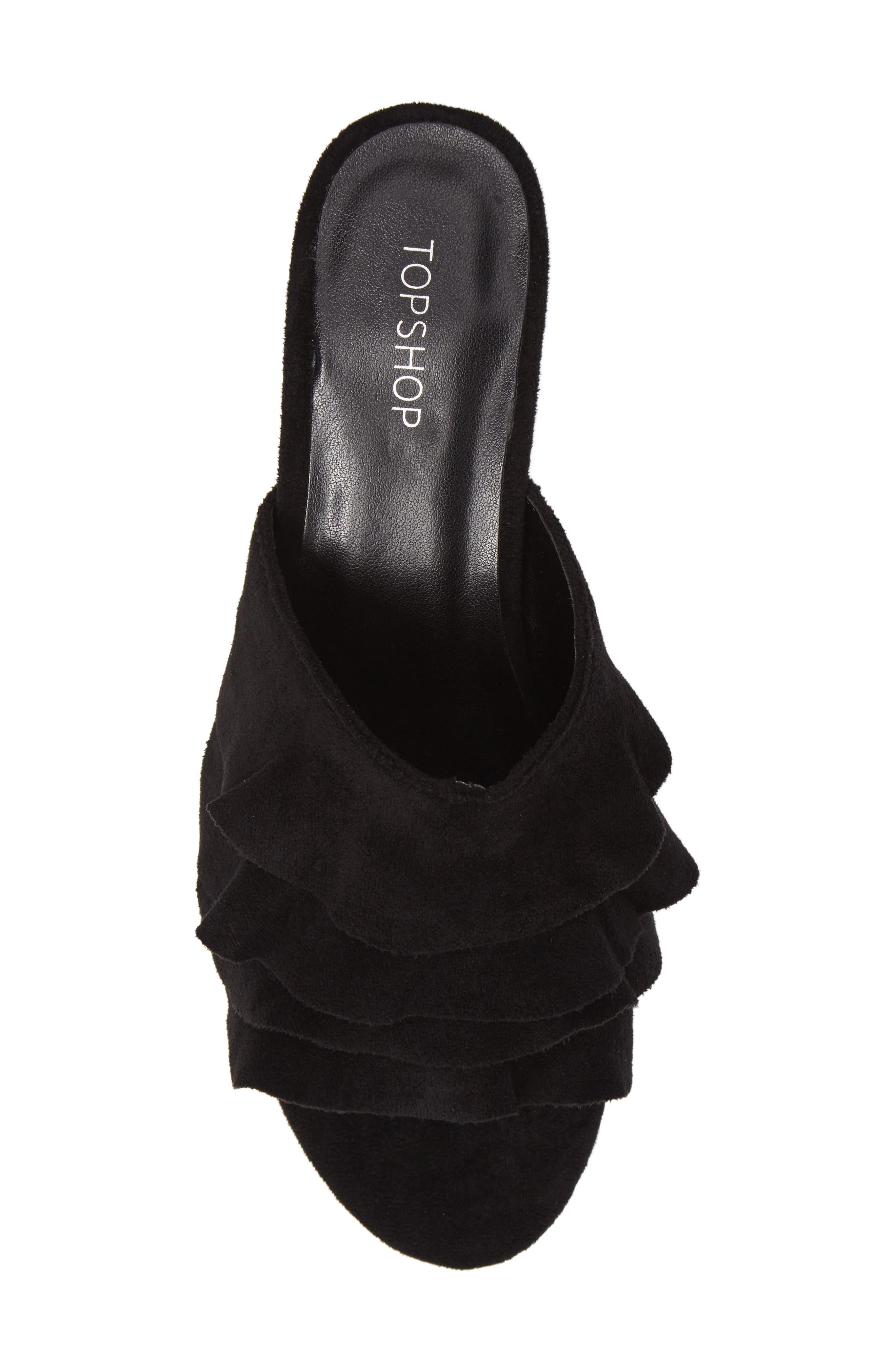Alternate Image 5  - Topshop Darcy Ruffle Slide Sandal (Women)