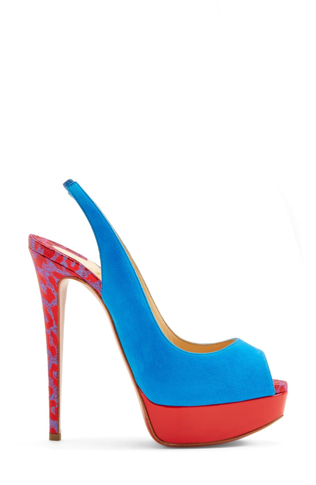 Alternate Image 4  - Christian Louboutin Peep Toe Slingback Pump