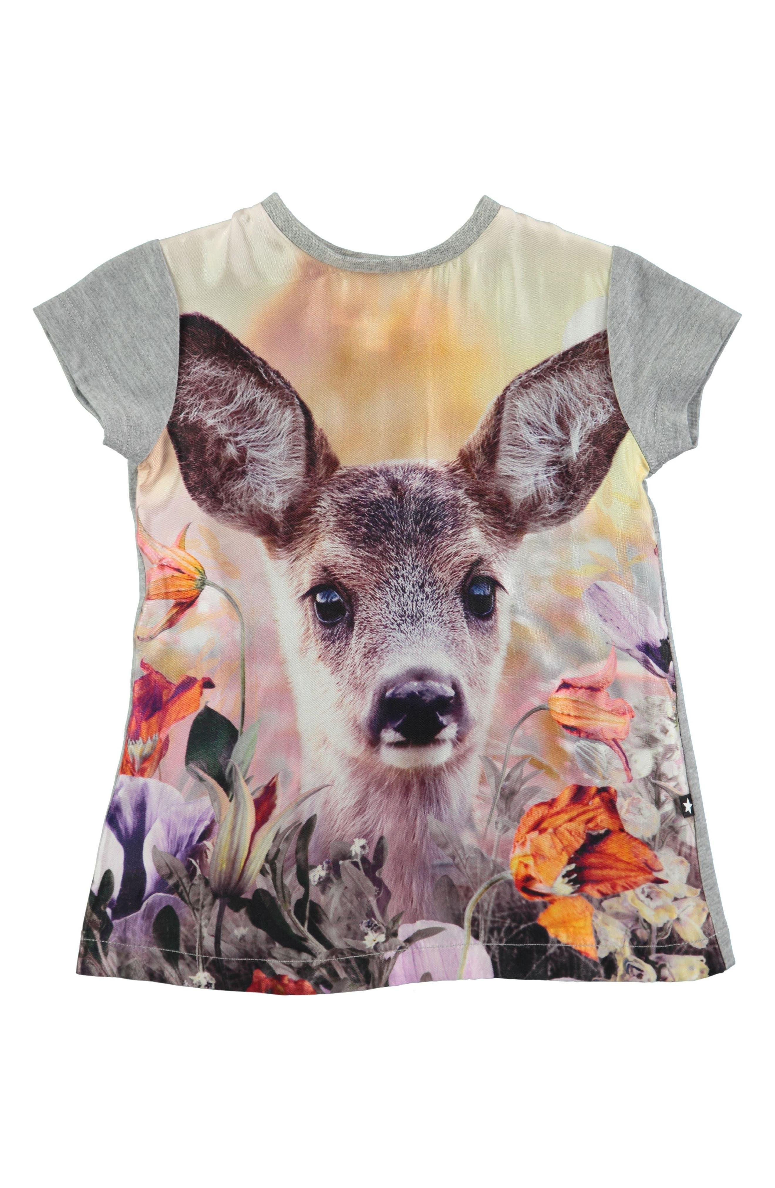 Molo Corina Print Short Sleeve Dress (Baby Girls)