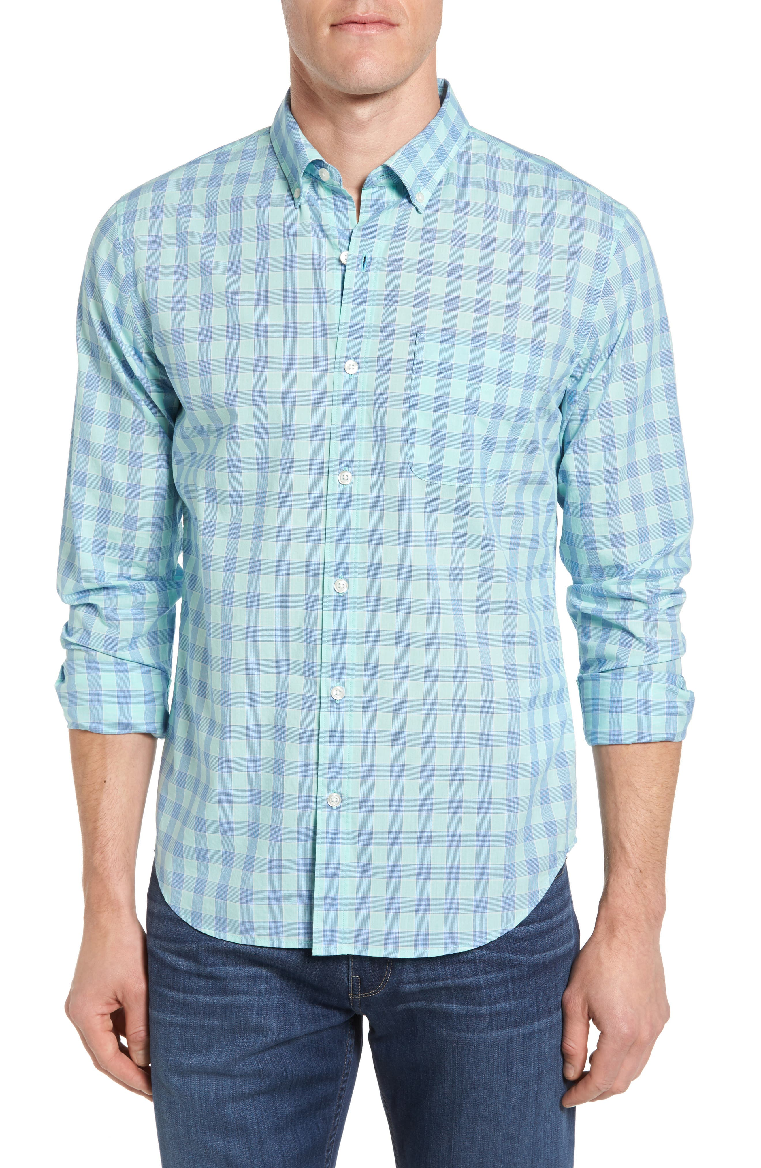 Bonobos Slim Fit Check Sport Shirt