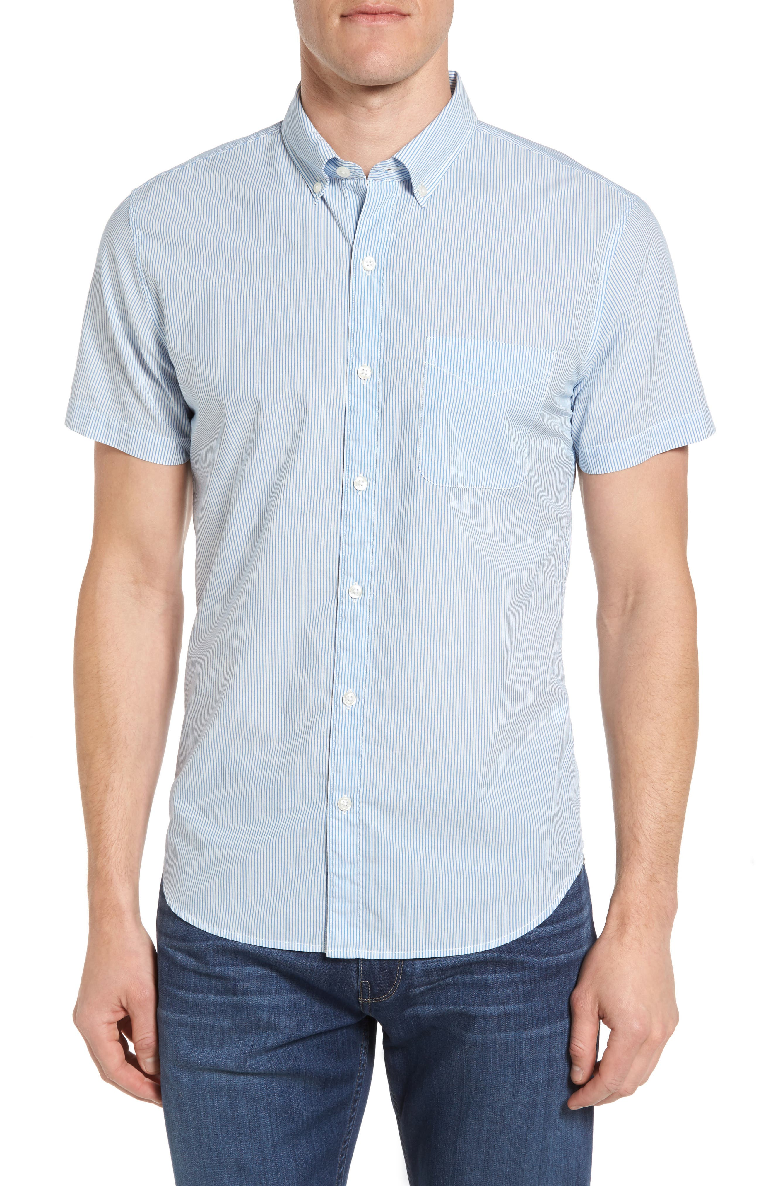 Bonobos Slim Fit Short Sleeve Vertical Stripe Sport Shirt