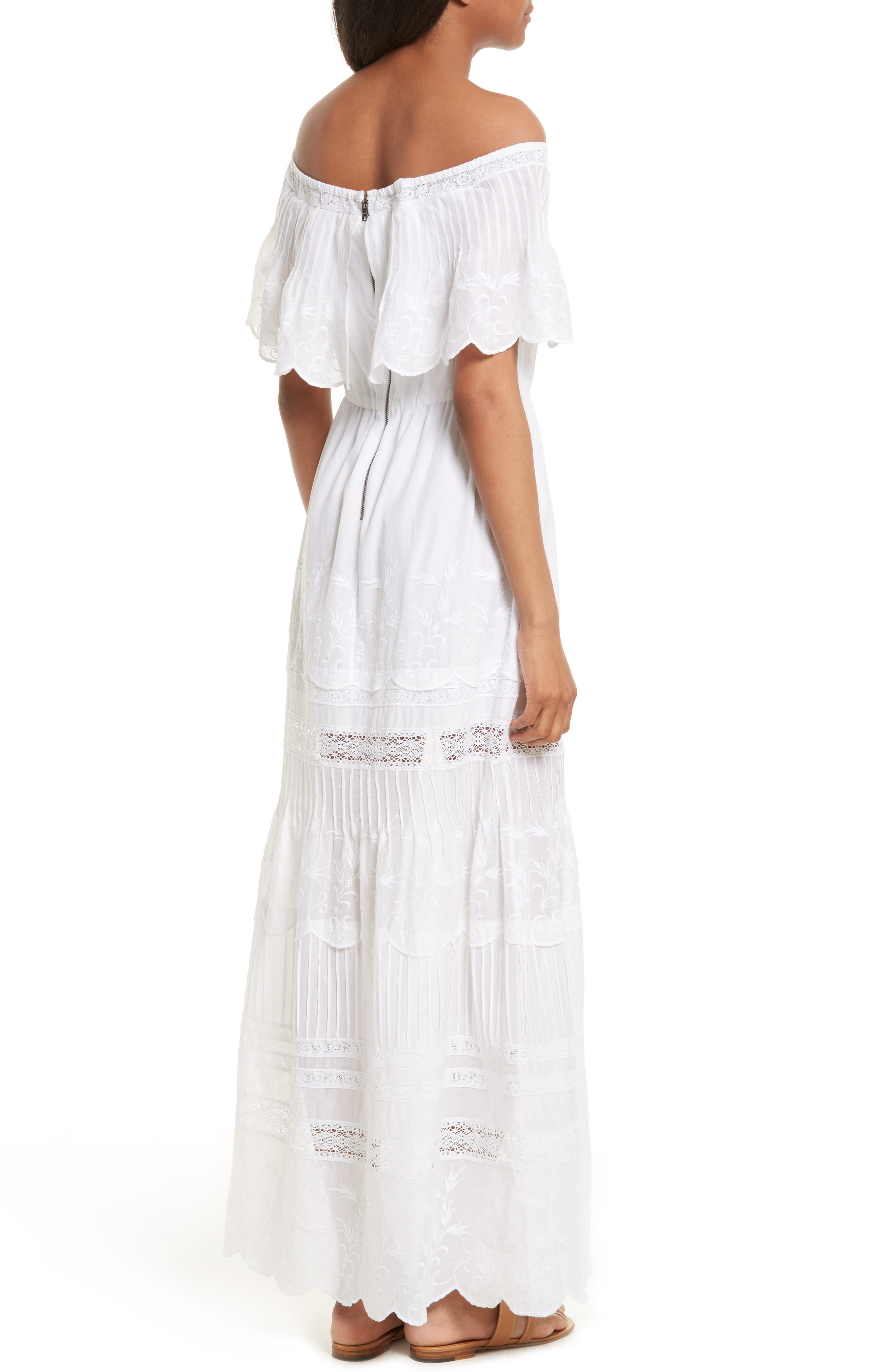Alternate Image 2  - Alice + Olivia Pansy Off the Shoulder Maxi Dress