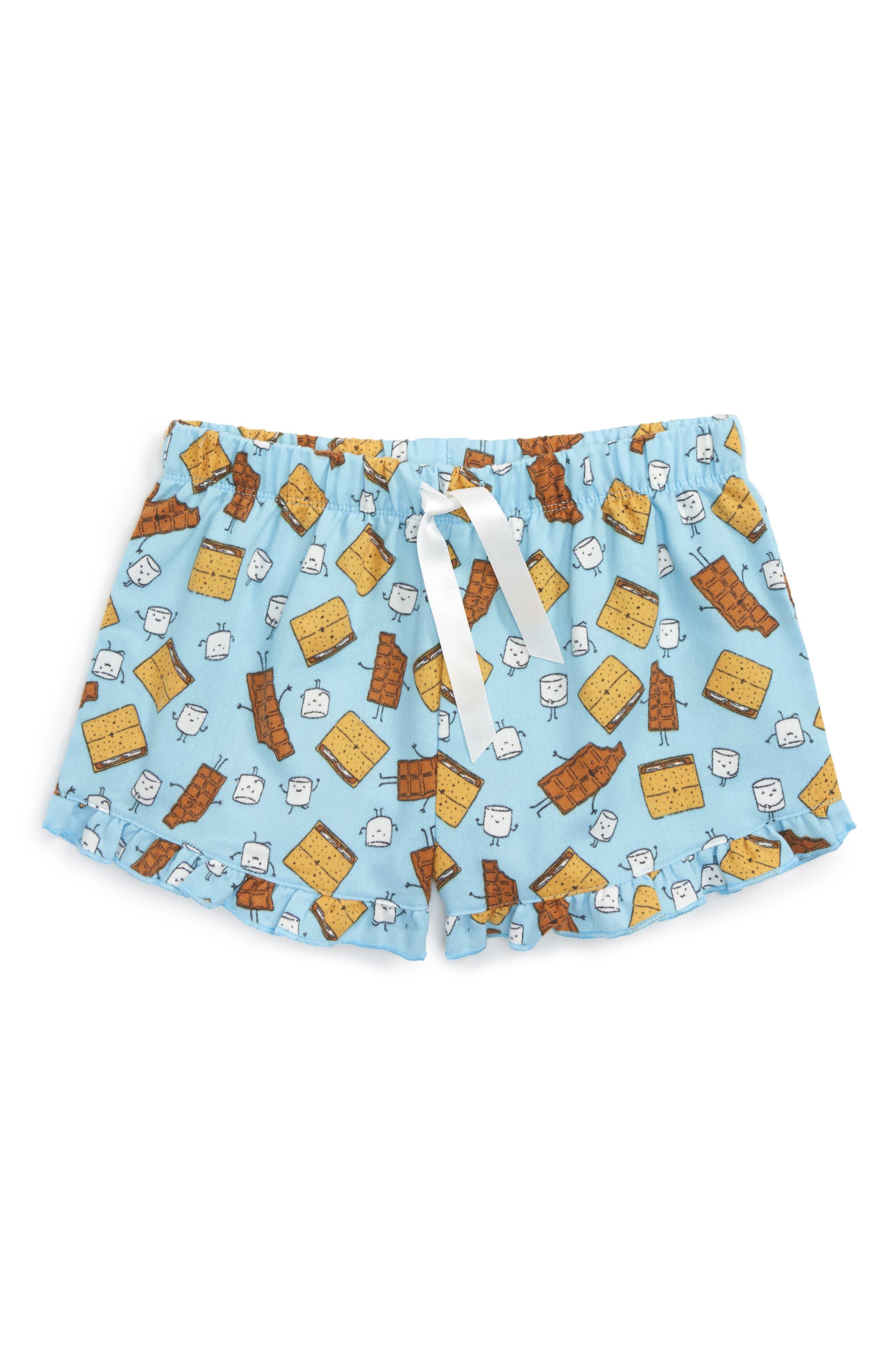 Alternate Image 1 Selected - Tucker + Tate Flannel Shorts (Big Girls)