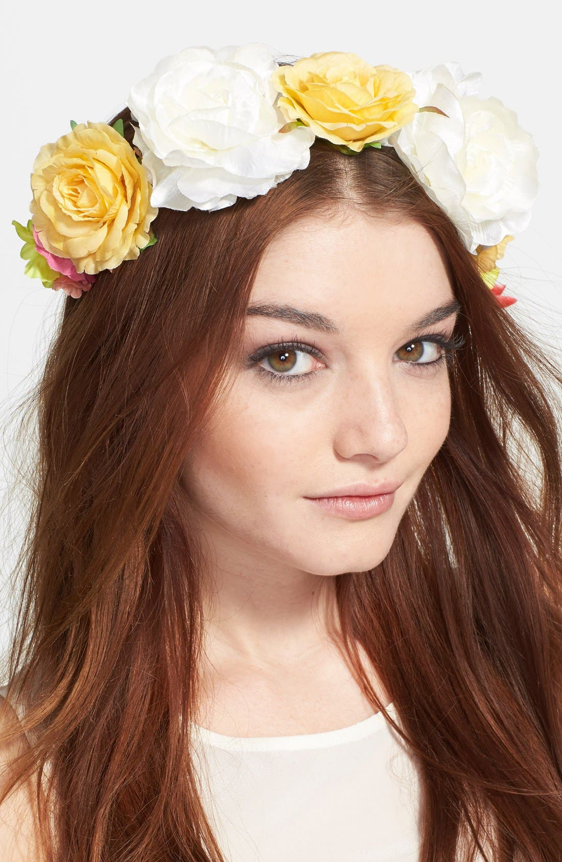 Main Image - Berry 'Drama' Floral Crown