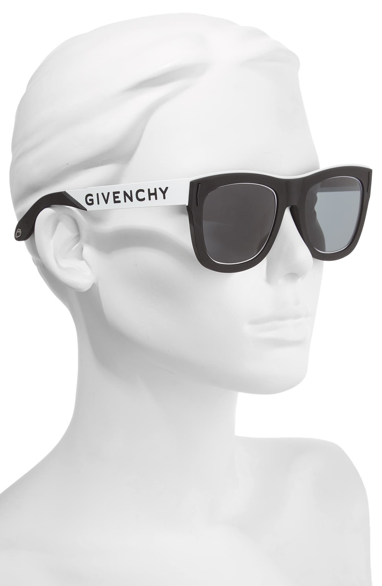 Alternate Image 2  - Givenchy 52mm Mirrored Rectangular Sunglasses