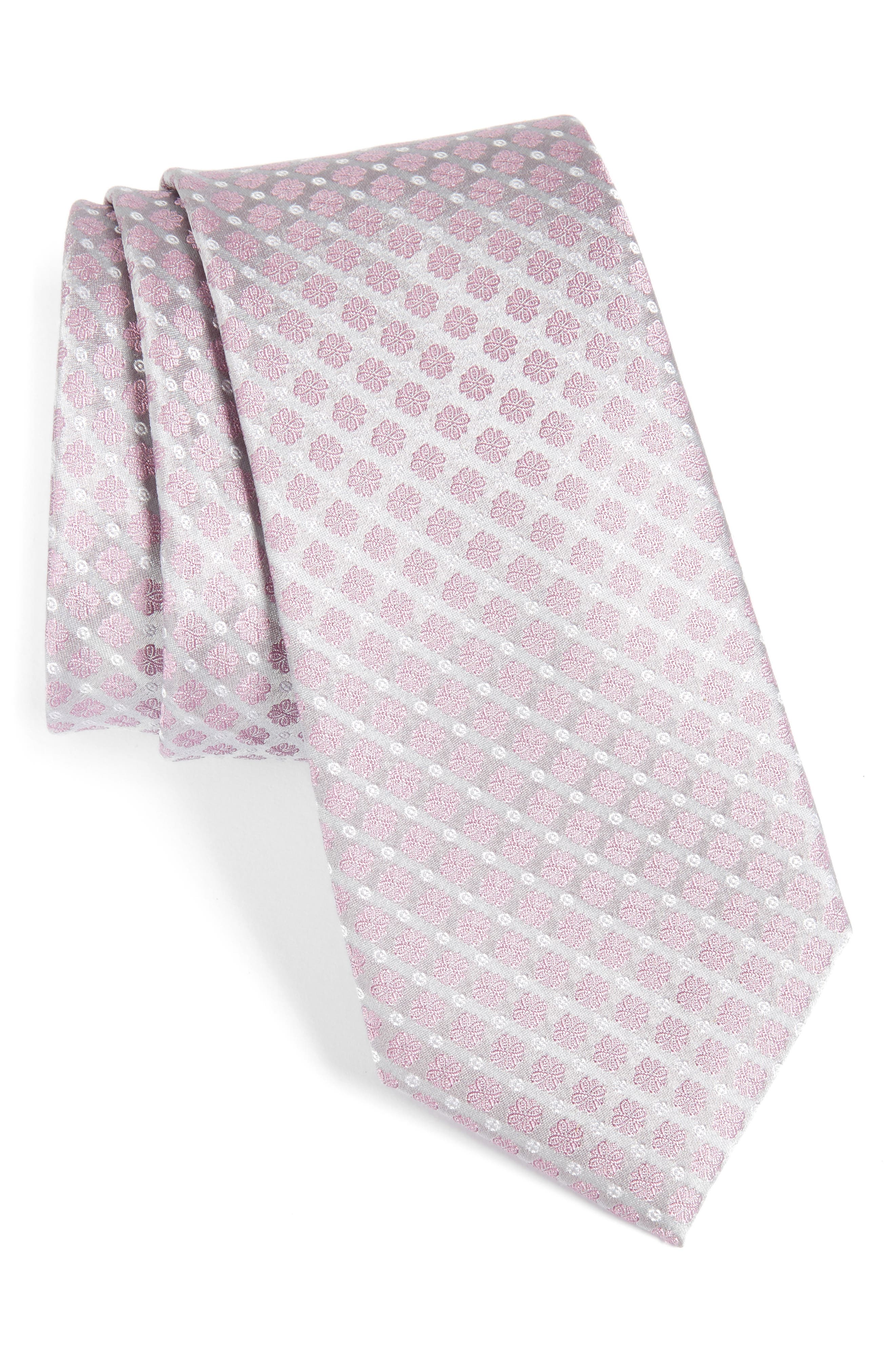Calibrate Forget Me Not Floral Silk Tie