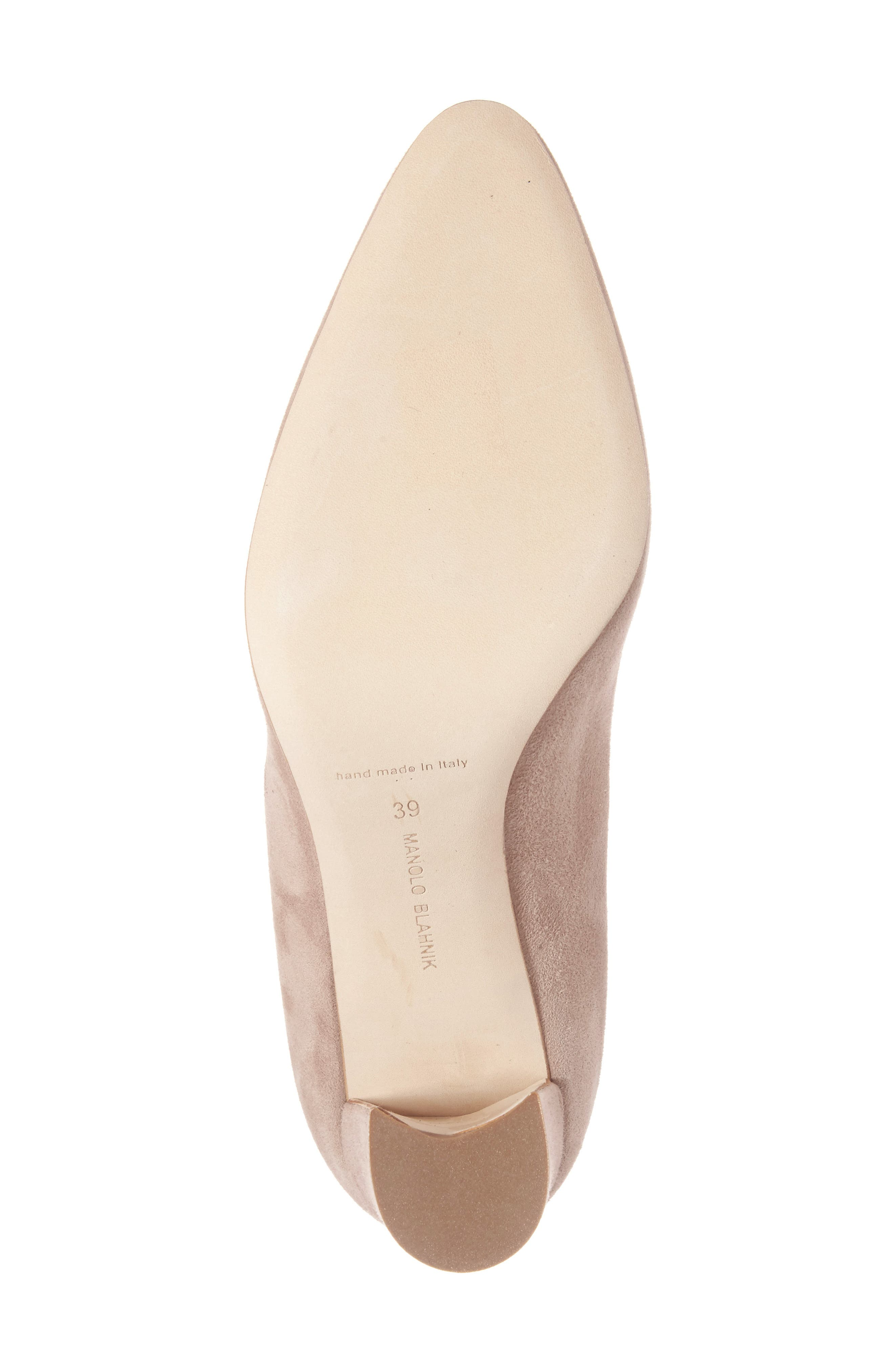 Alternate Image 6  - Manolo Blahnik Tucciototo Block Heel Pump (Women)