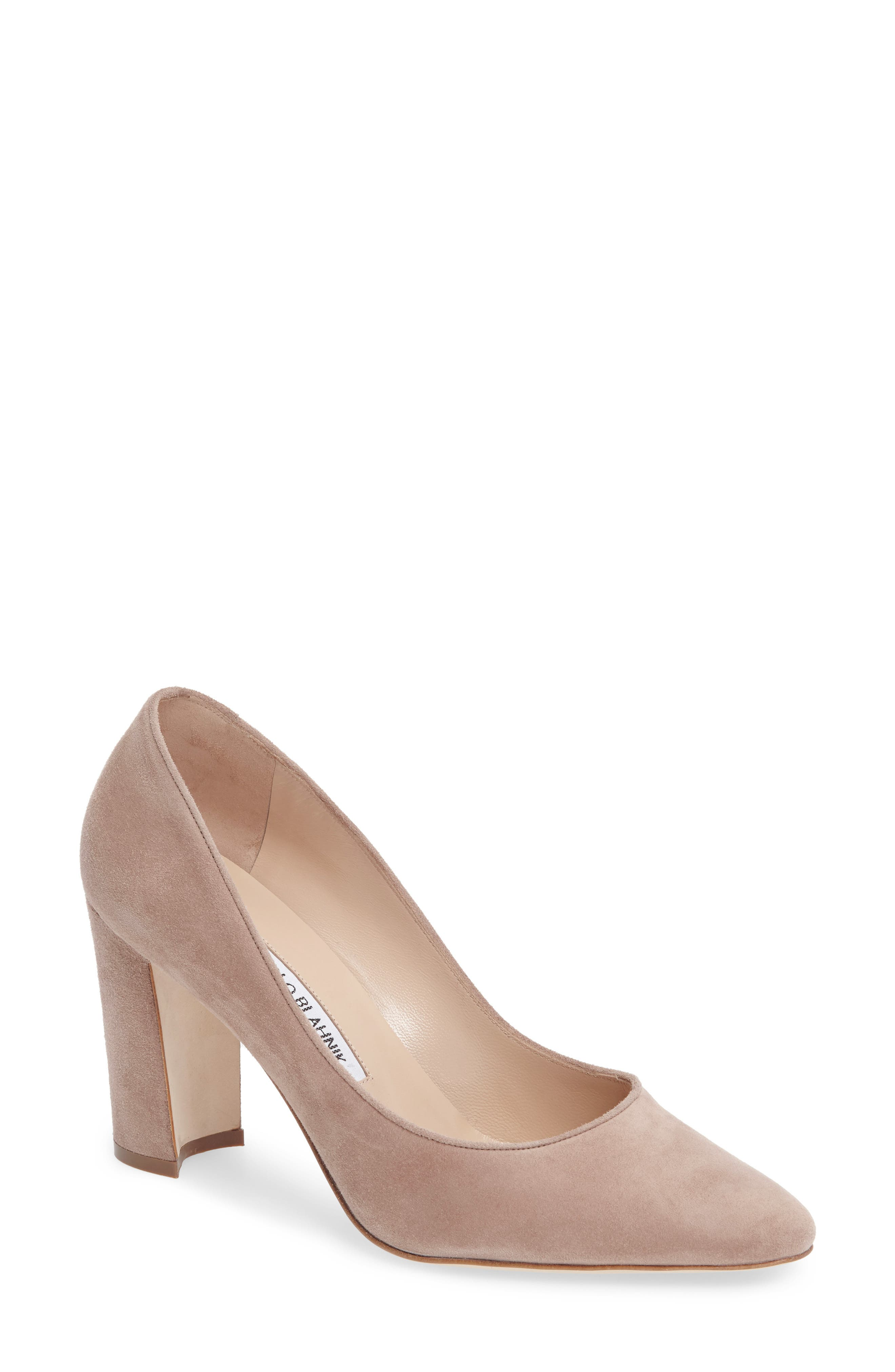 Alternate Image 1 Selected - Manolo Blahnik Tucciototo Block Heel Pump (Women)