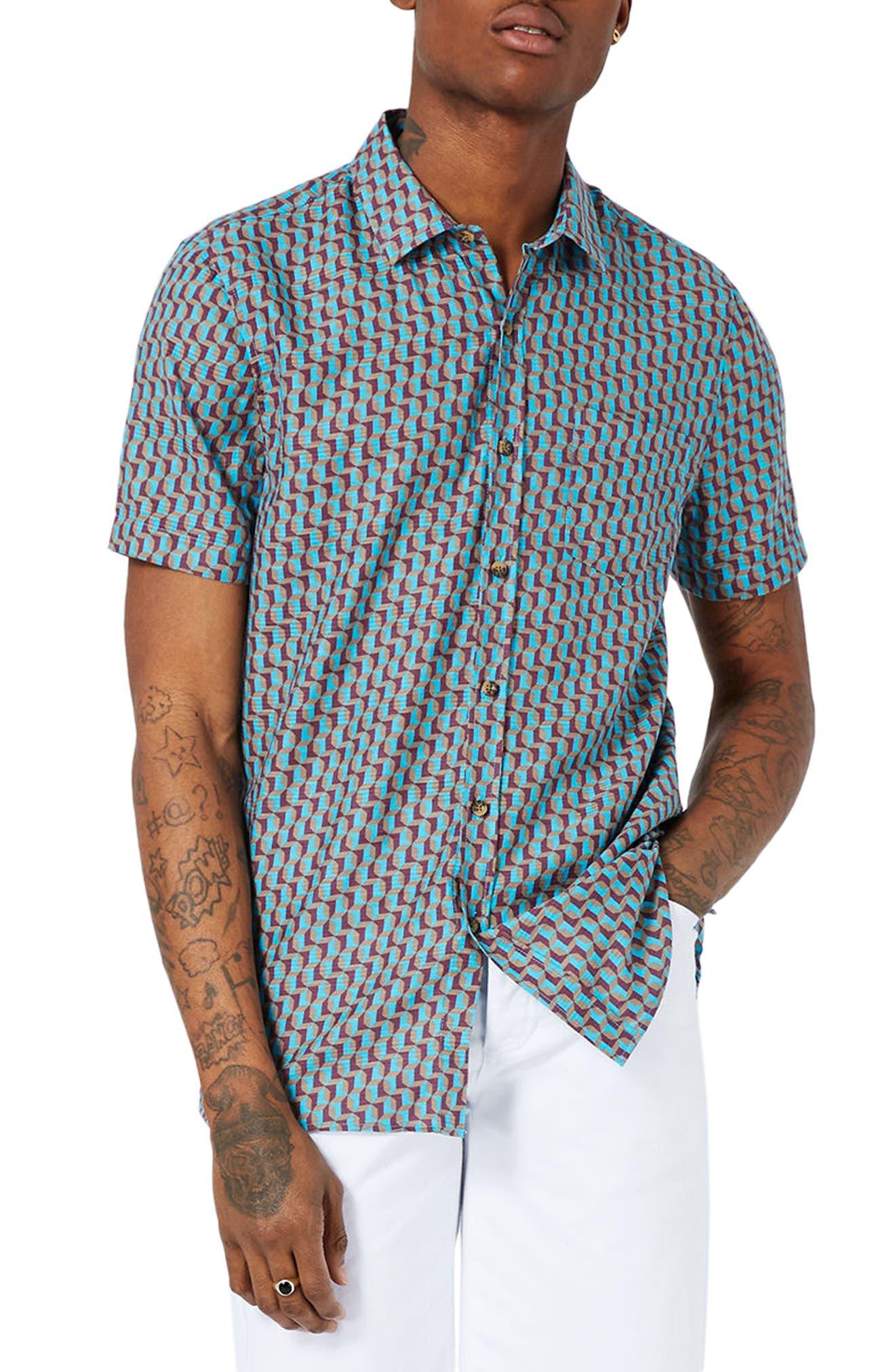 Topman Geo Print Shirt