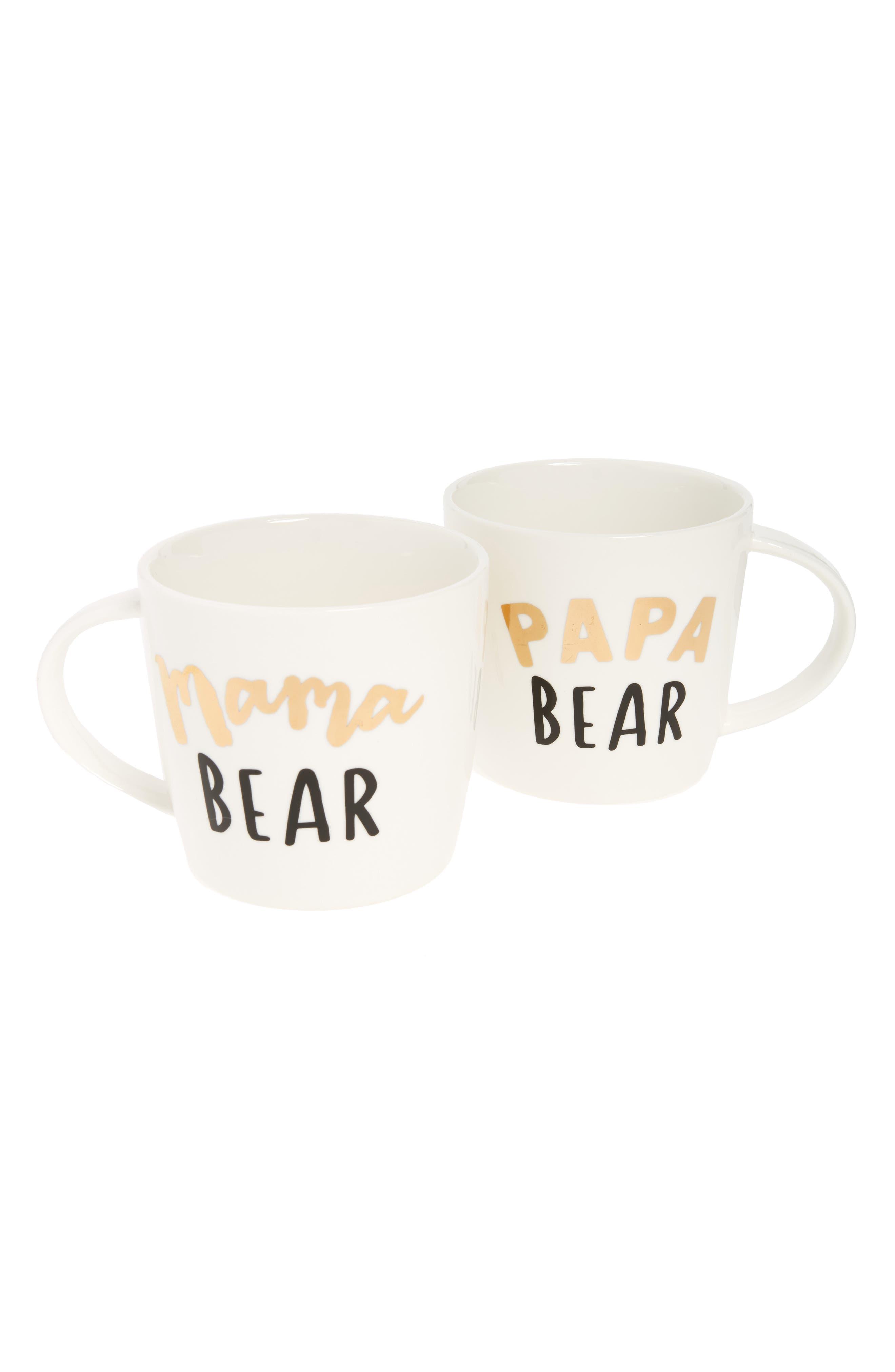 Slant Collections Mama & Papa Bear Set of 2 Mugs