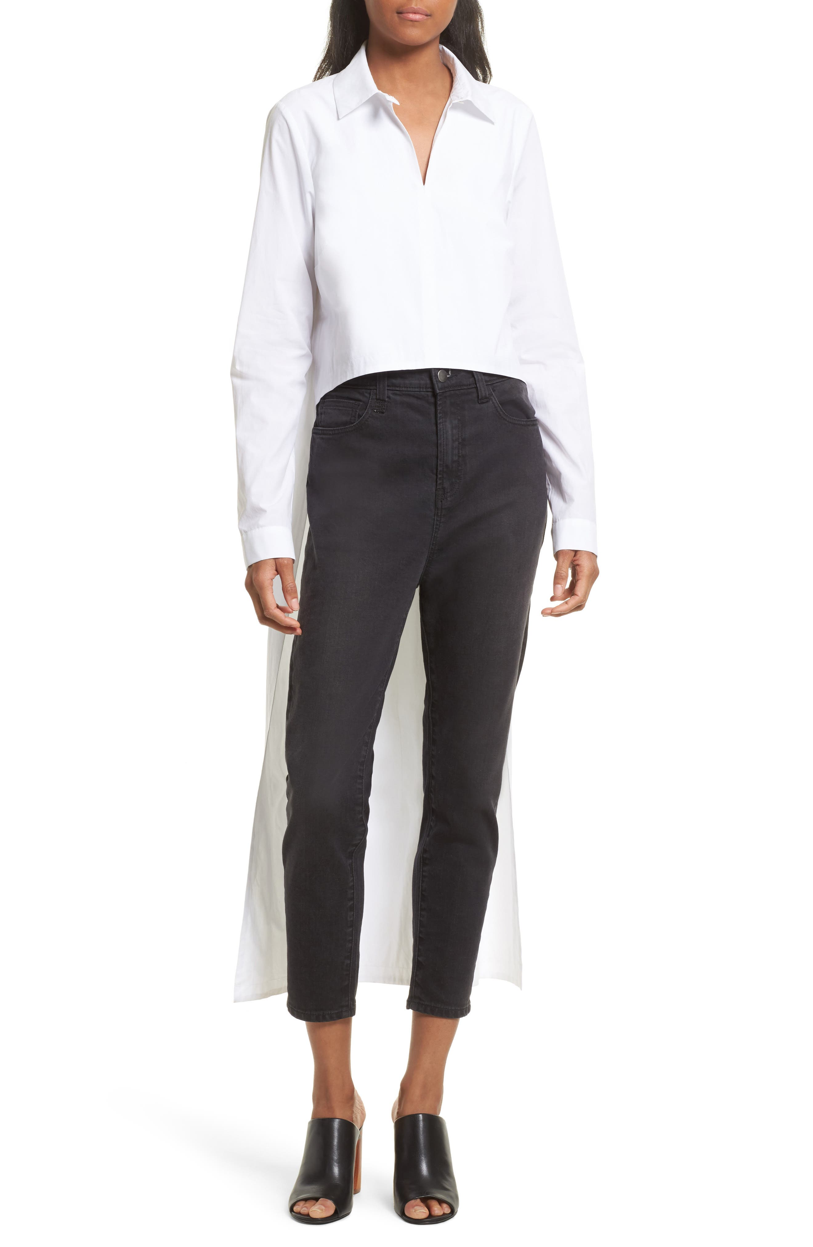 Robert Rodriguez High/Low Cotton Poplin Shirt