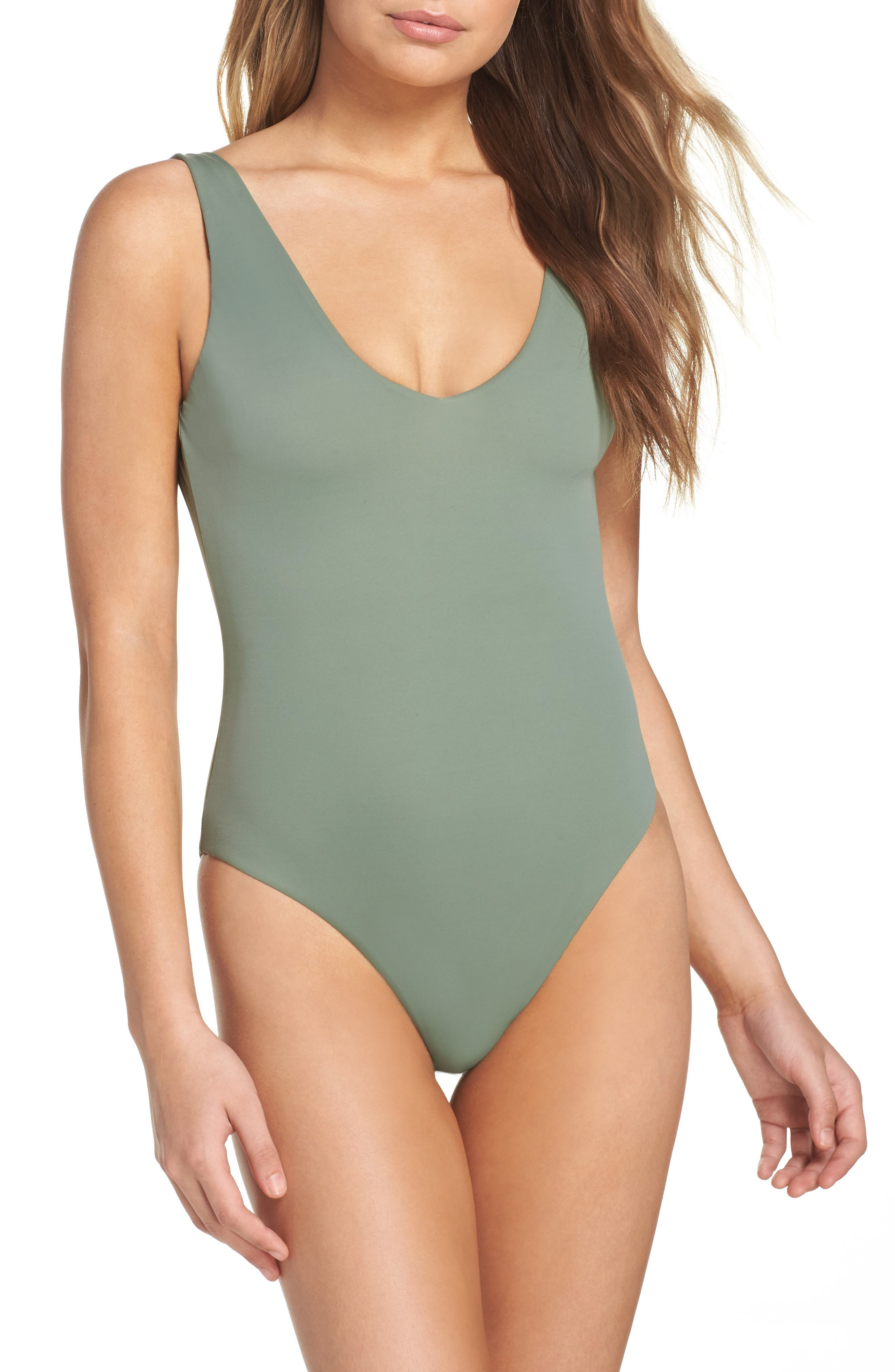 Leith Plunge Reversible One-Piece Swimsuit