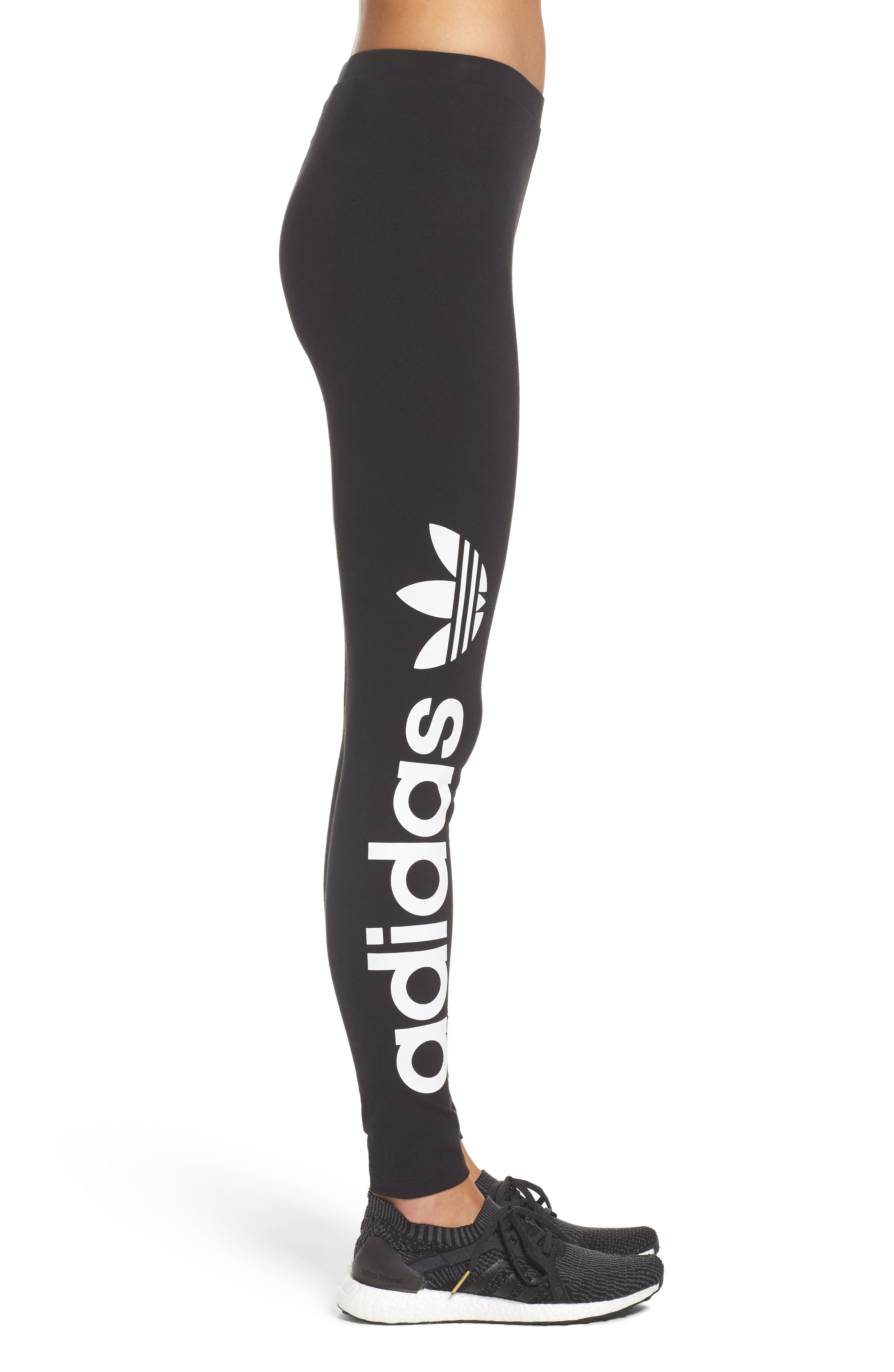Alternate Image 3  - adidas Originals Linear Leggings