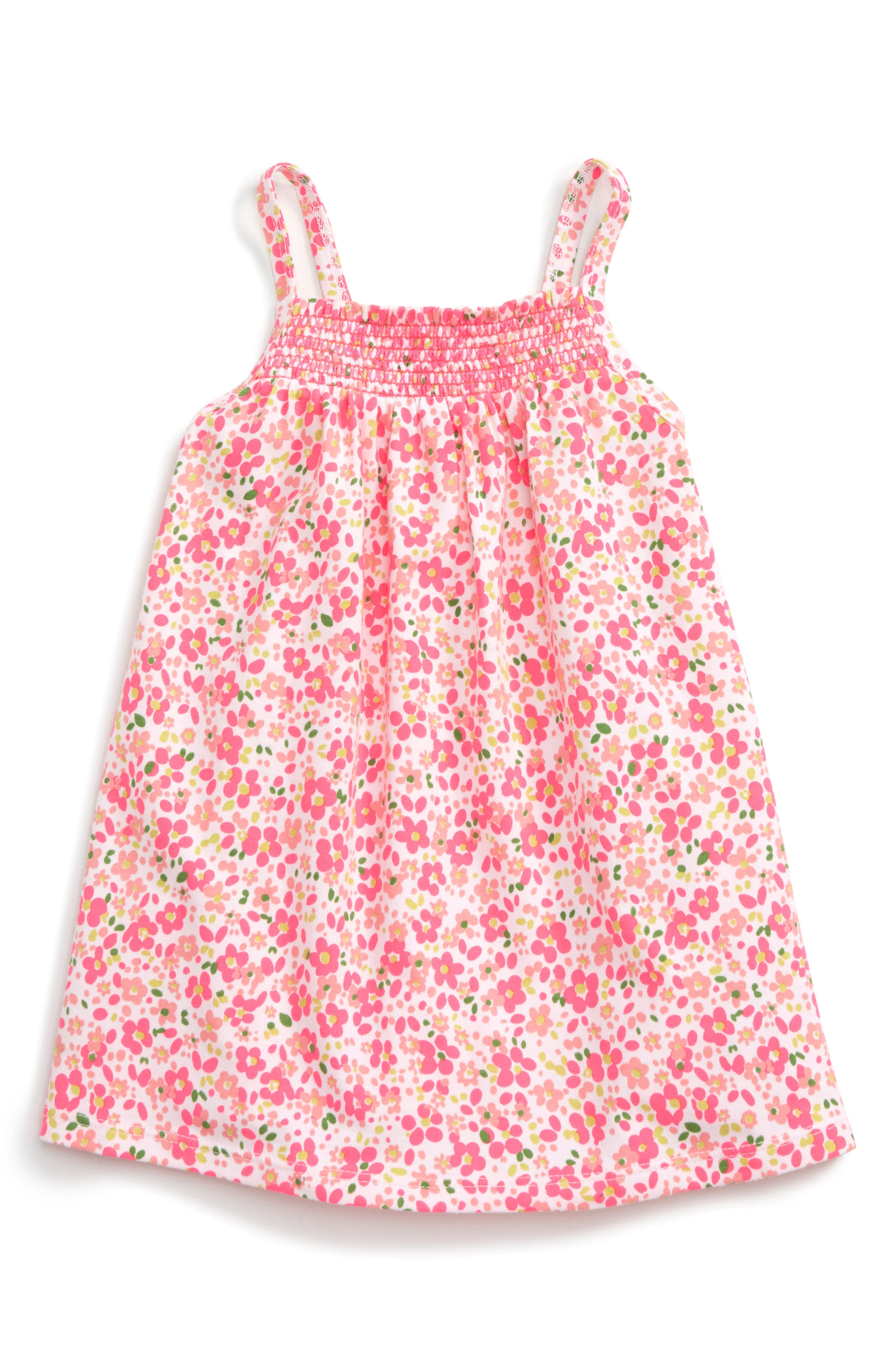 Tucker + Tate Print Smocked Tank Dress (Baby Girls)