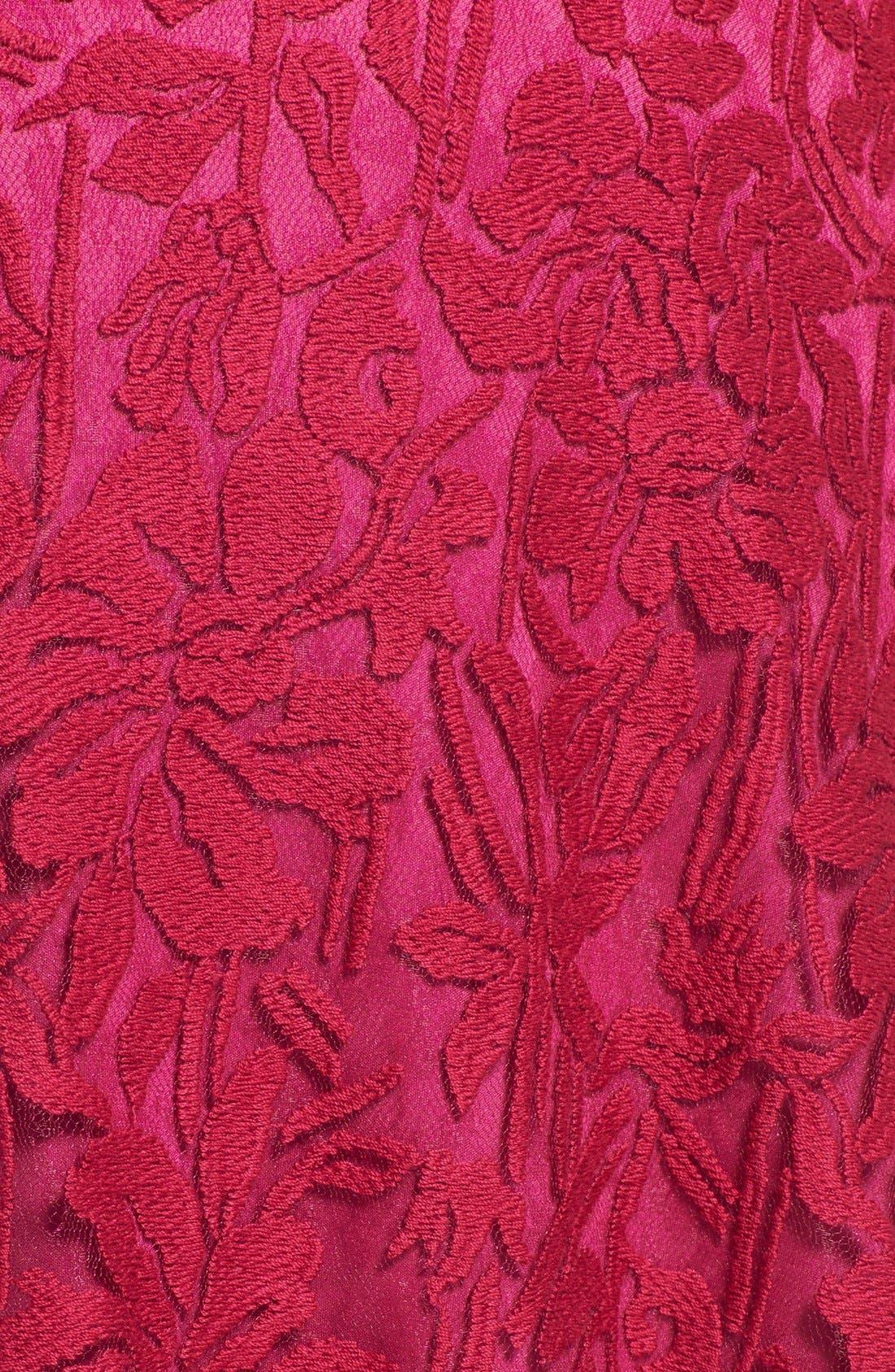 Alternate Image 4  - Tadashi Shoji Embroidered Lace Fit & Flare Dress (Plus Size)