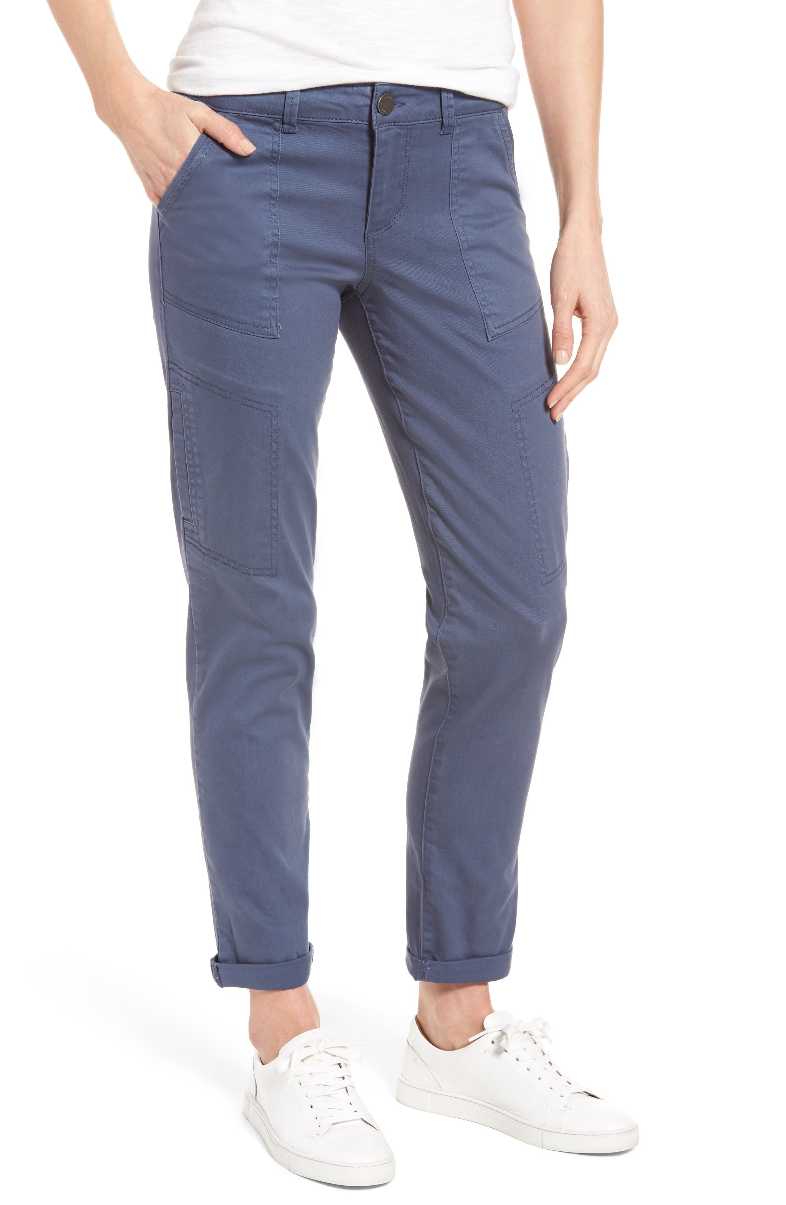 Main Image - Wit & Wisdom Skinny Cargo Pants (Regular & Petite) (Nordstrom Exclusive)