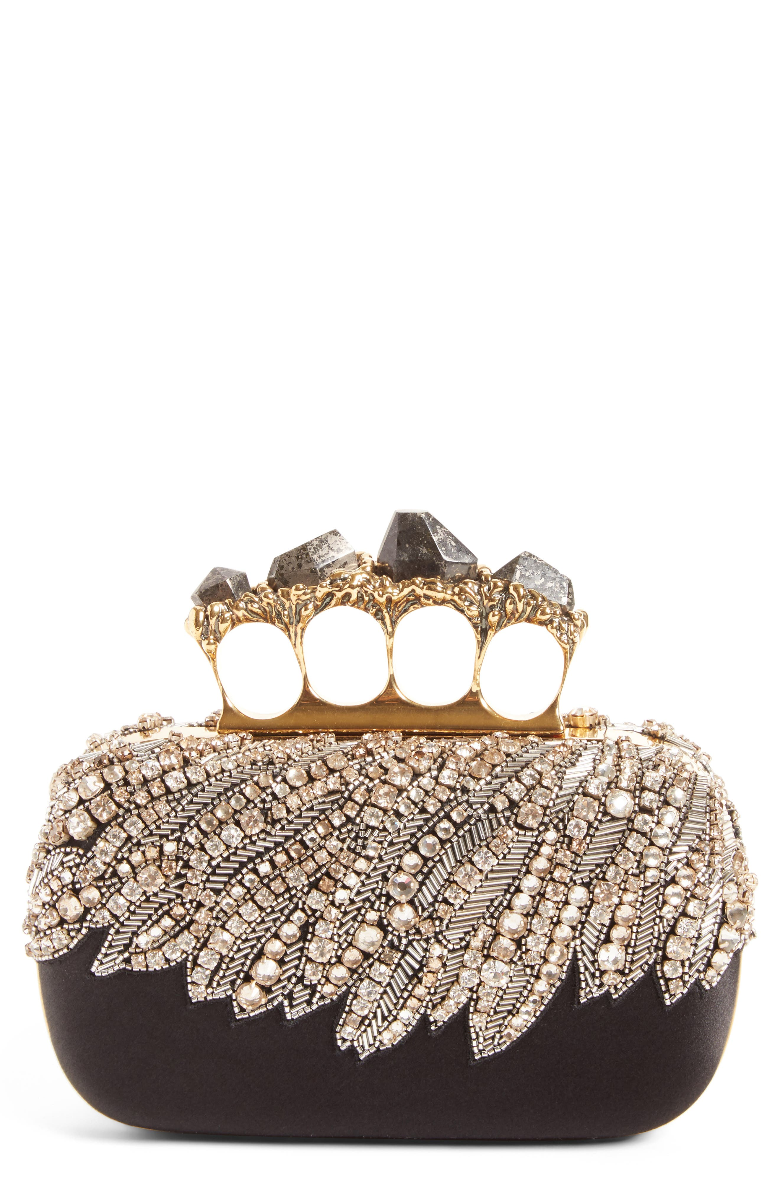 Alexander McQueen Eagle Wing Knuckle Box Clutch