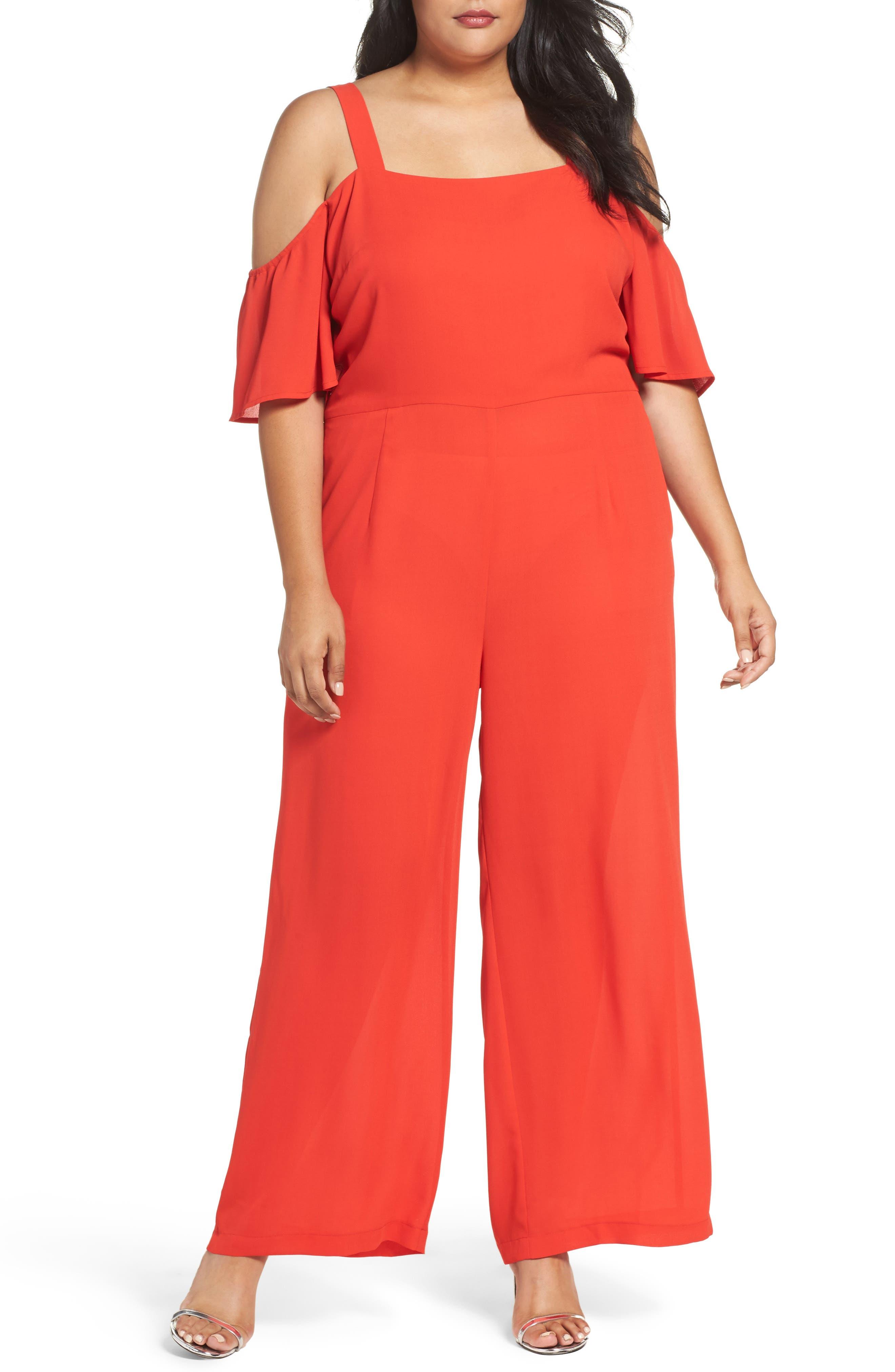 Glamorous Off the Shoulder Jumpsuit (Plus Size)