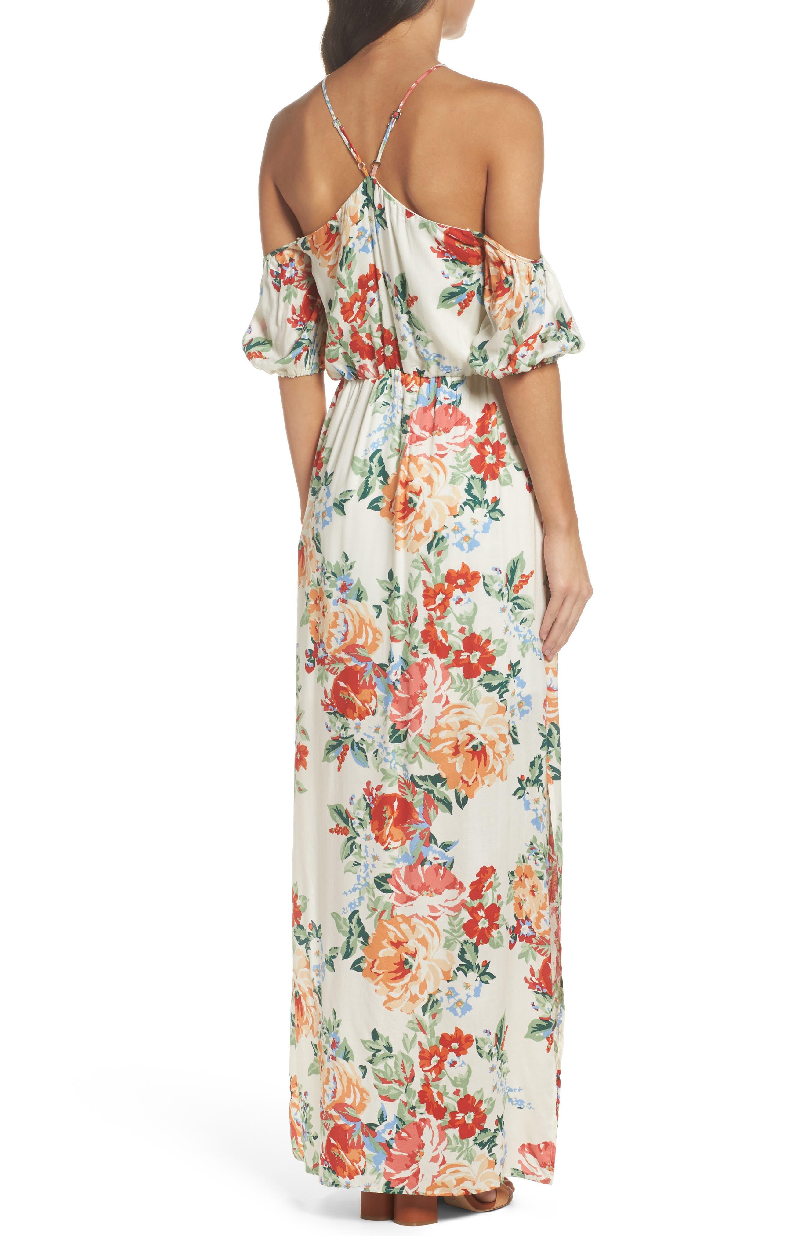 Alternate Image 2  - Charles Henry Cold Shoulder Blouson Dress (Regular & Petite)