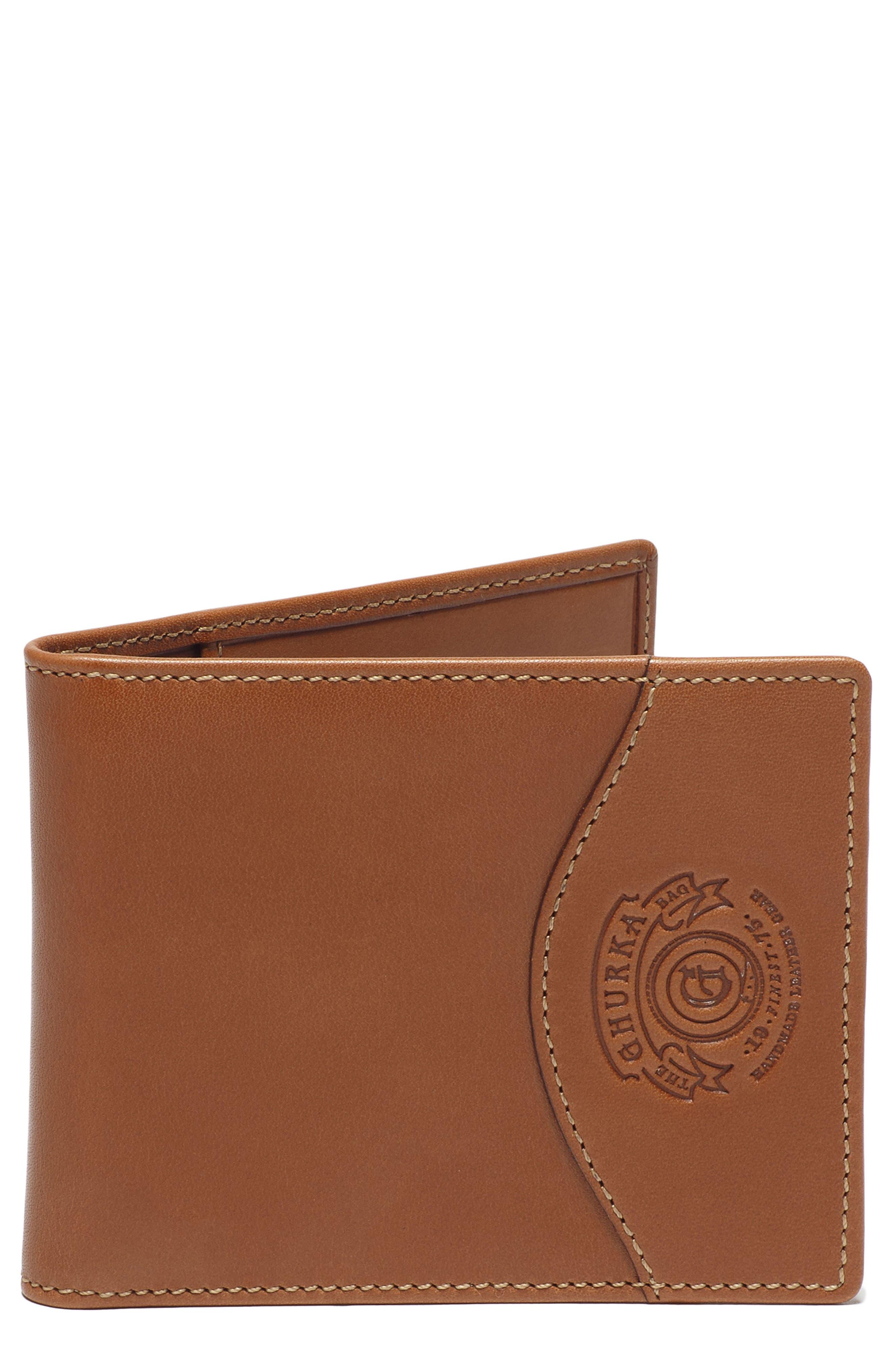 Ghurka Leather Money Clip Wallet