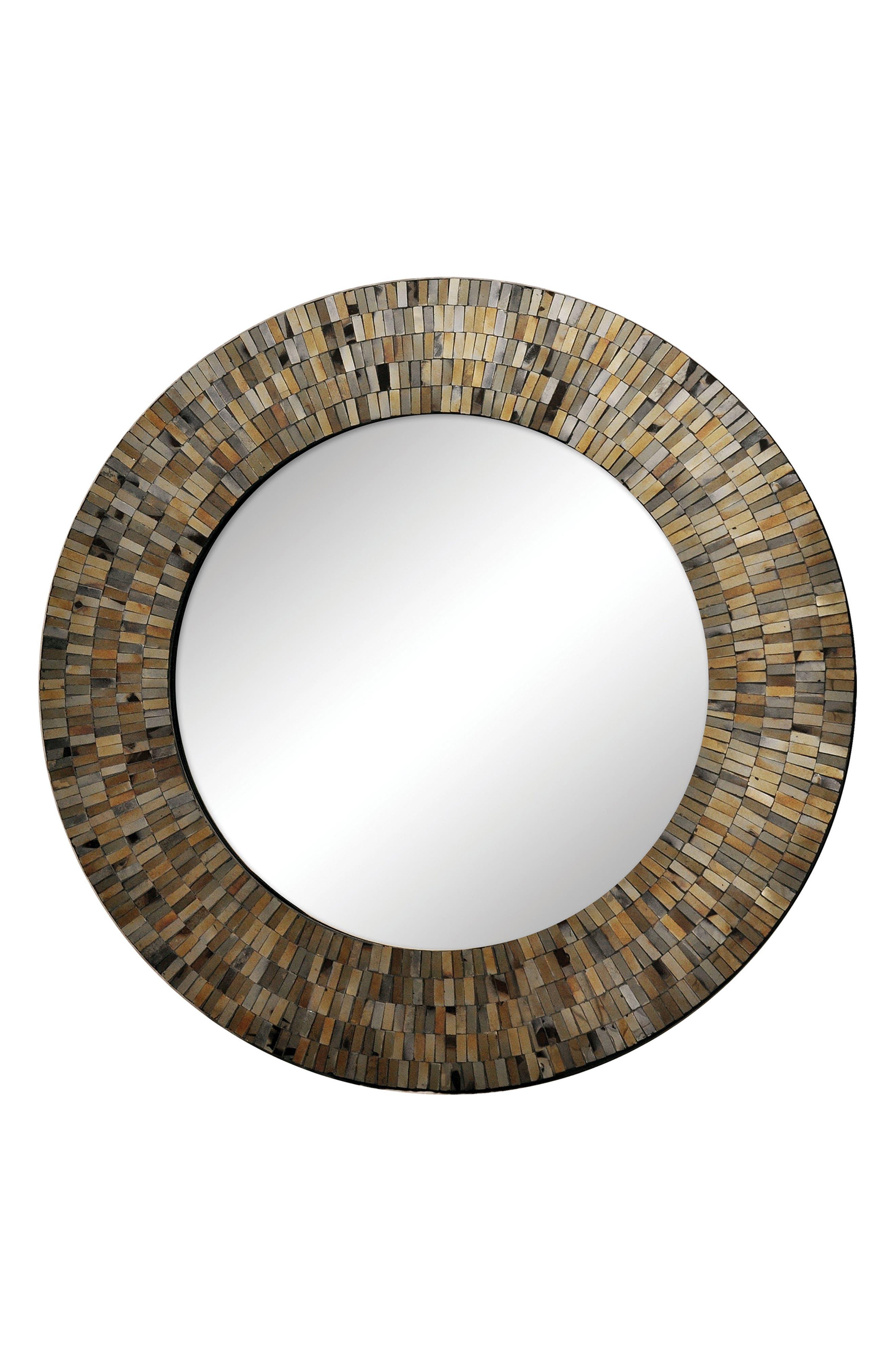 Renwil Aventurine Round Mirror