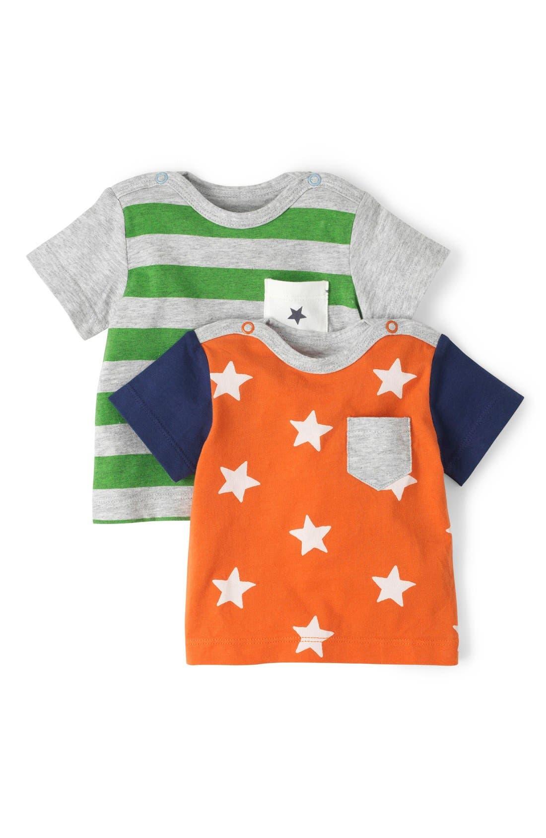 Main Image - Mini Boden 'Hotchpotch' Chest Pocket T-Shirts (Set of 2) (Baby Boys)