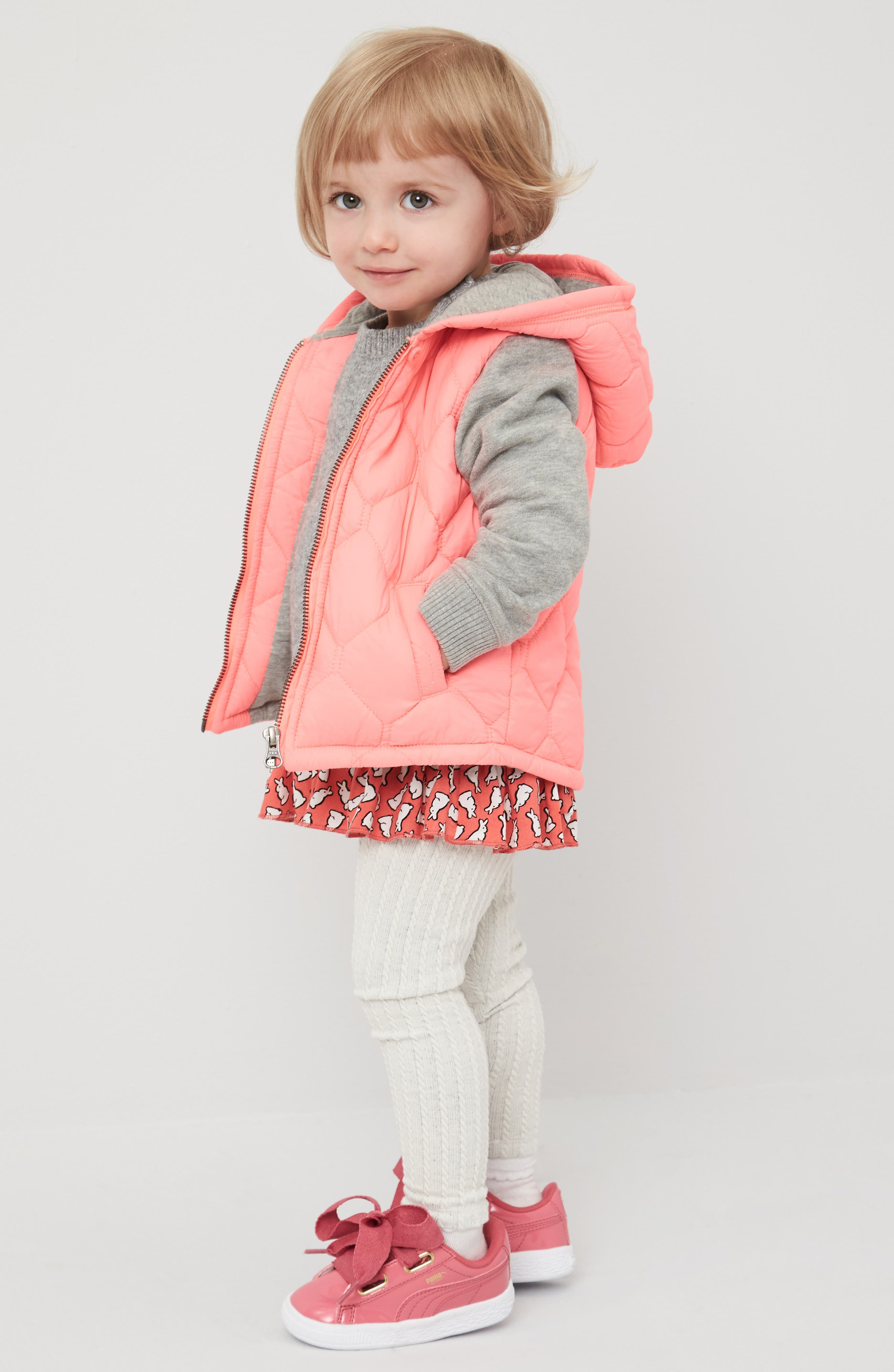Tucker + Tate Jacket, Sweater & Leggings Outfit with Accessories (Baby Girls)