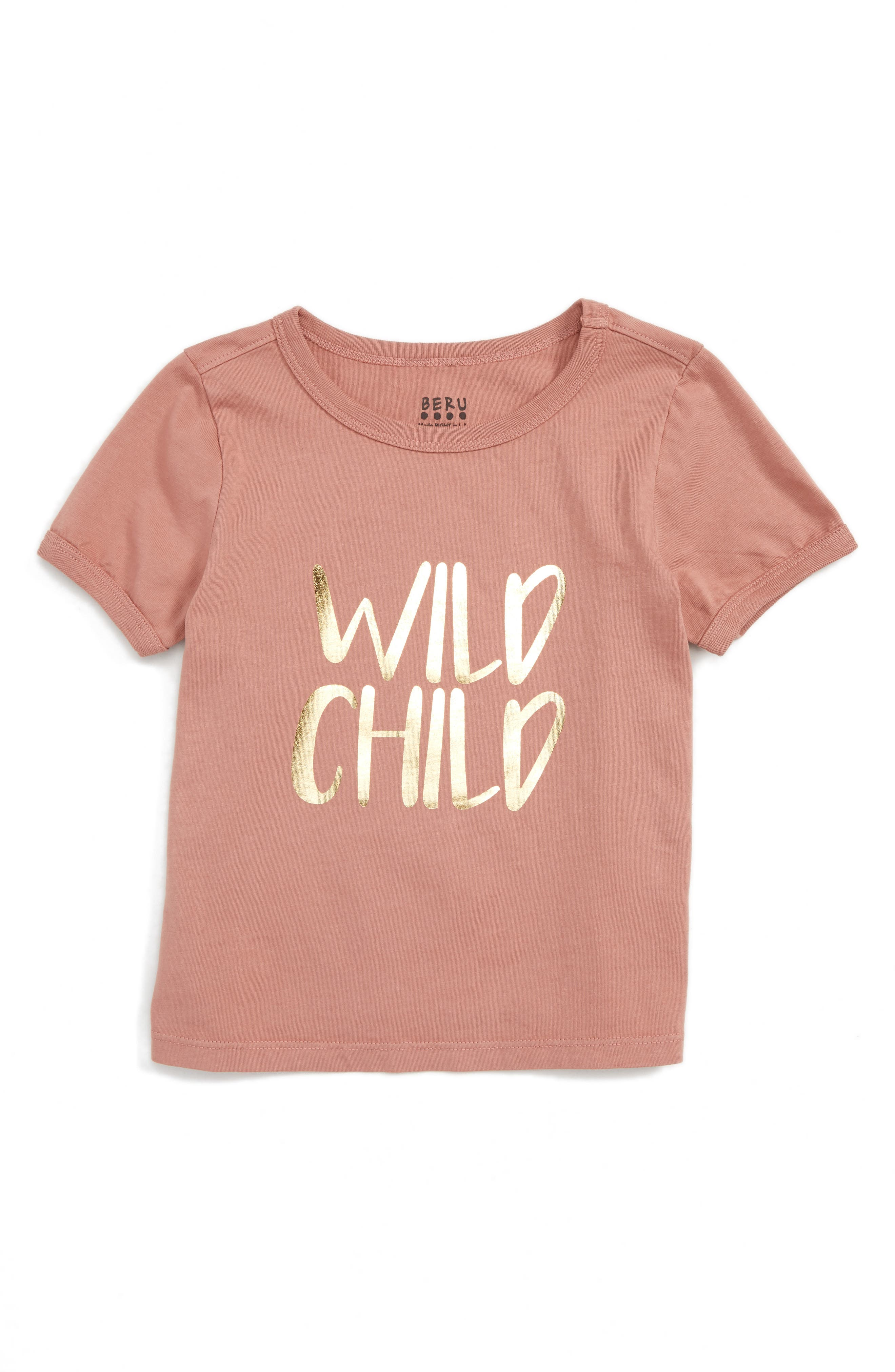 BERU Ava - Wild Child Organic Cotton Tee (Toddler Girls & Little Girls)
