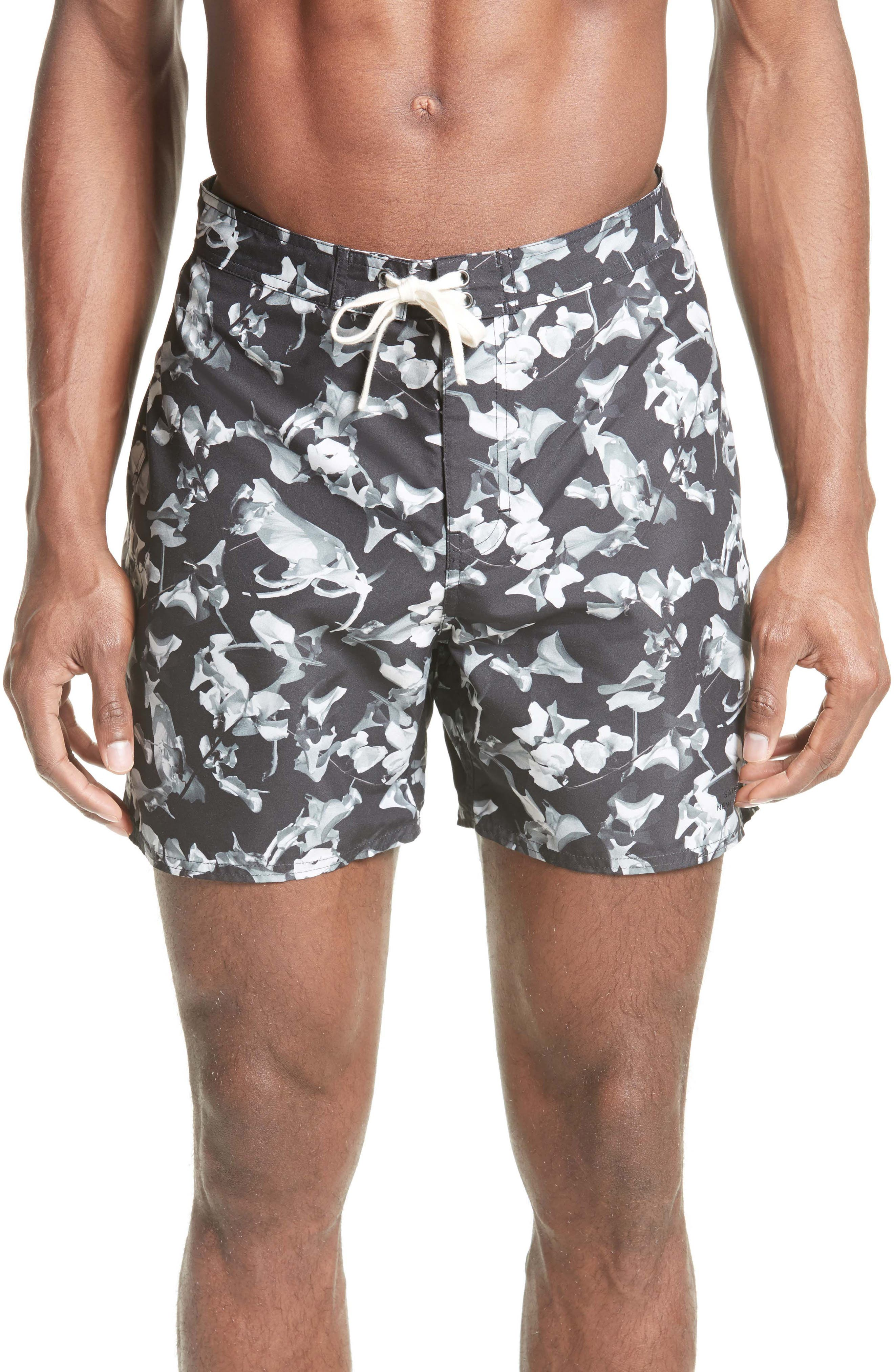 Saturdays NYC Colin Petals Print Board Shorts