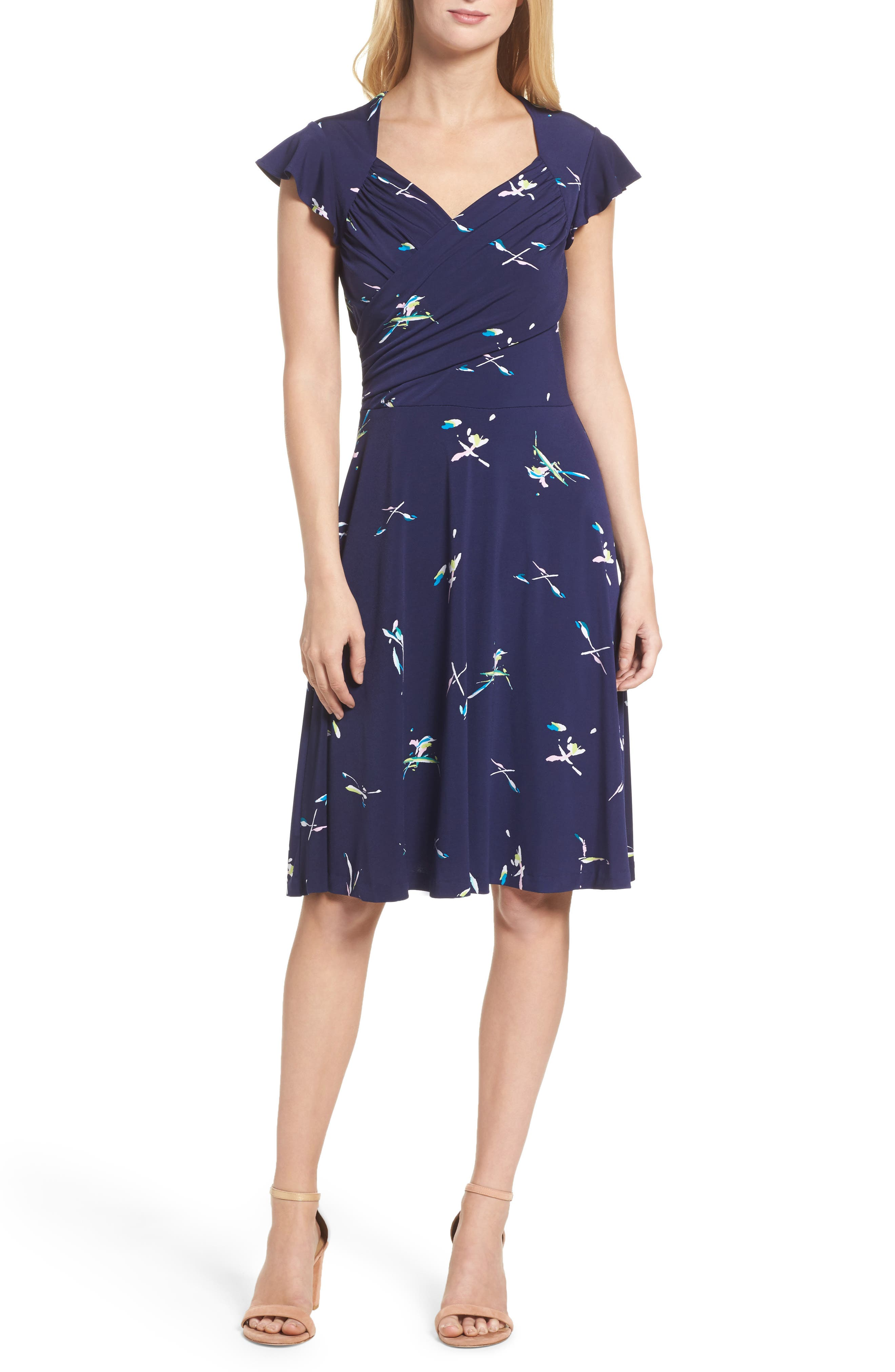 Leota Print Fit & Flare Dress