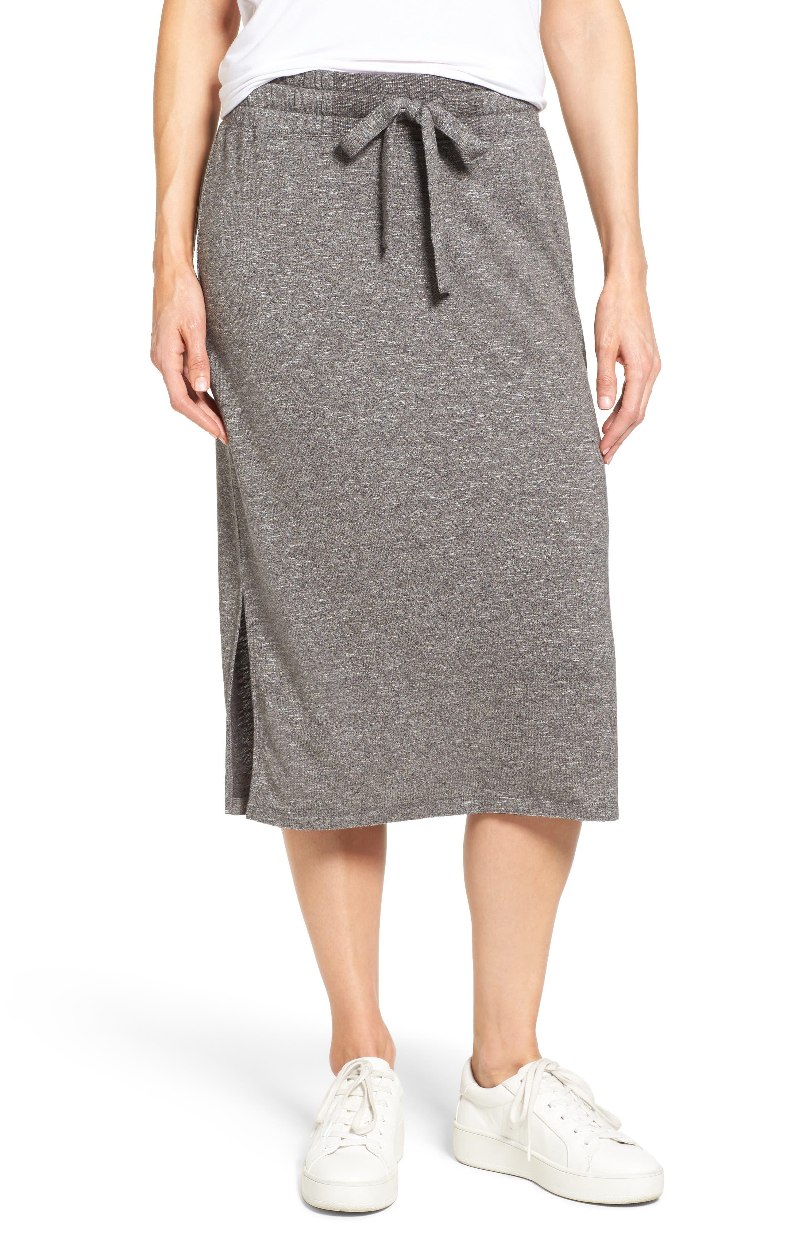 Caslon® Jersey Midi Skirt (Regular & Petite)