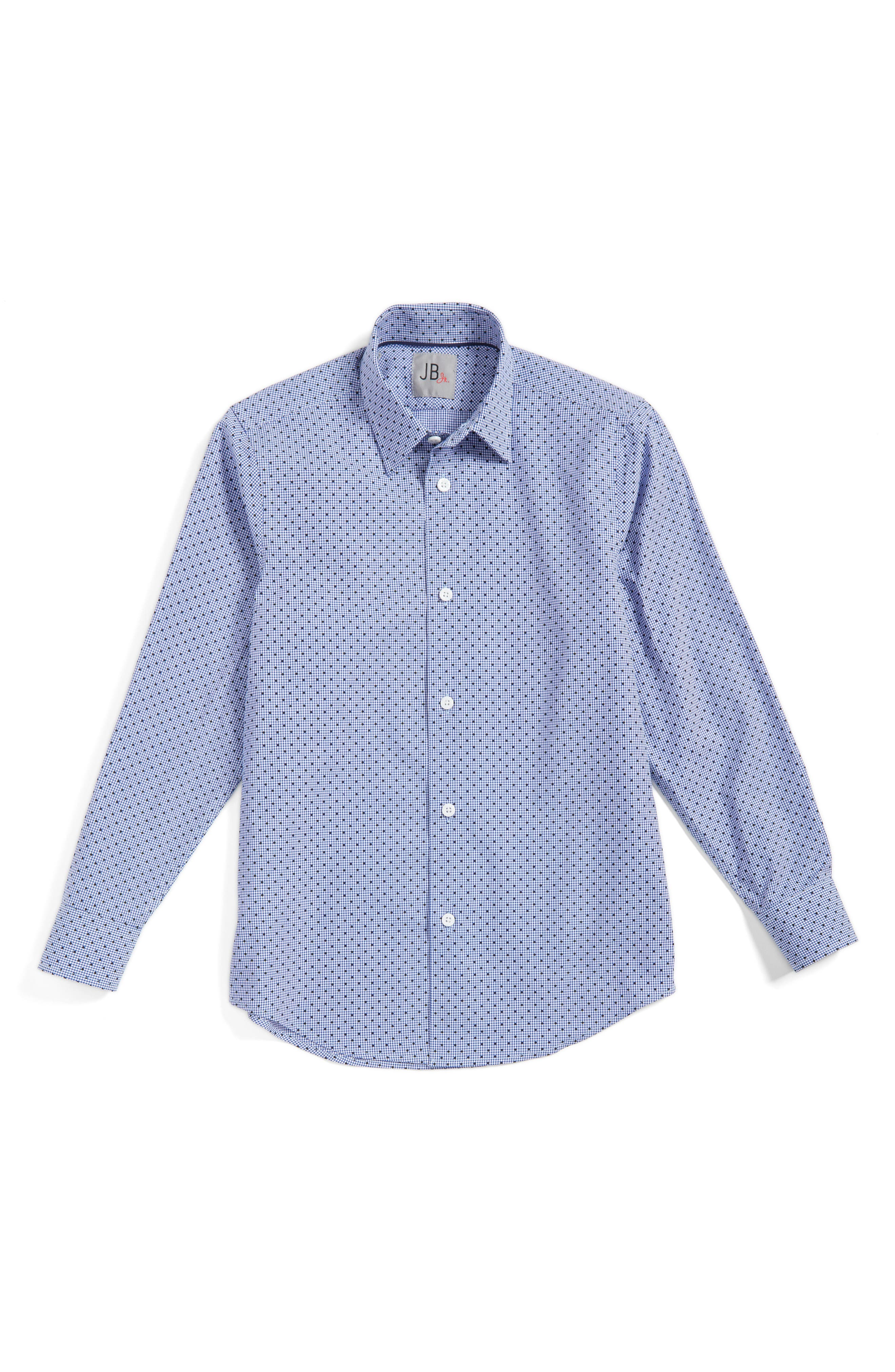 JB Jr Dot Gingham Dress Shirt (Big Boys)