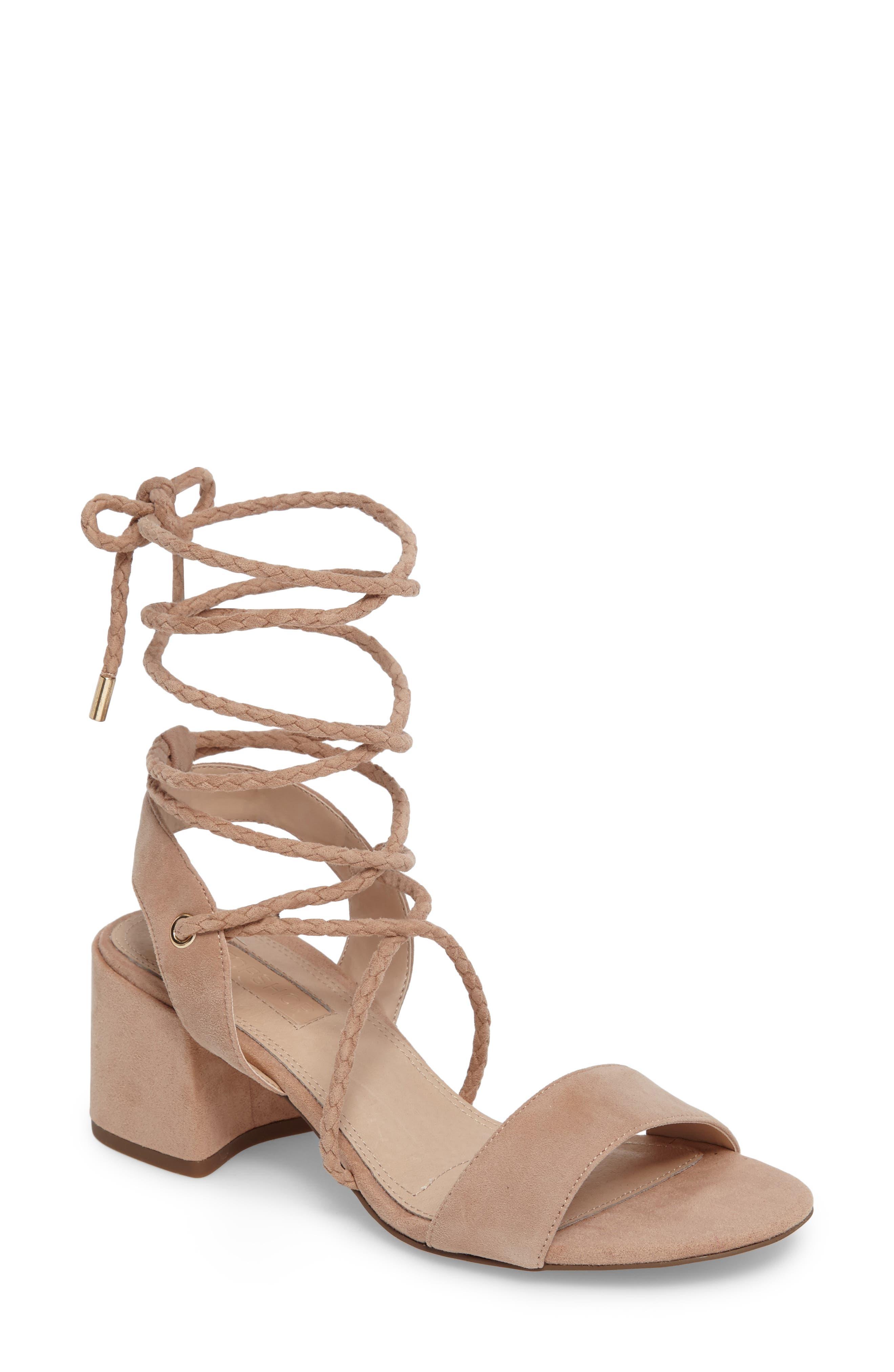 Topshop Nevada Braided Wraparound Sandal (Women)