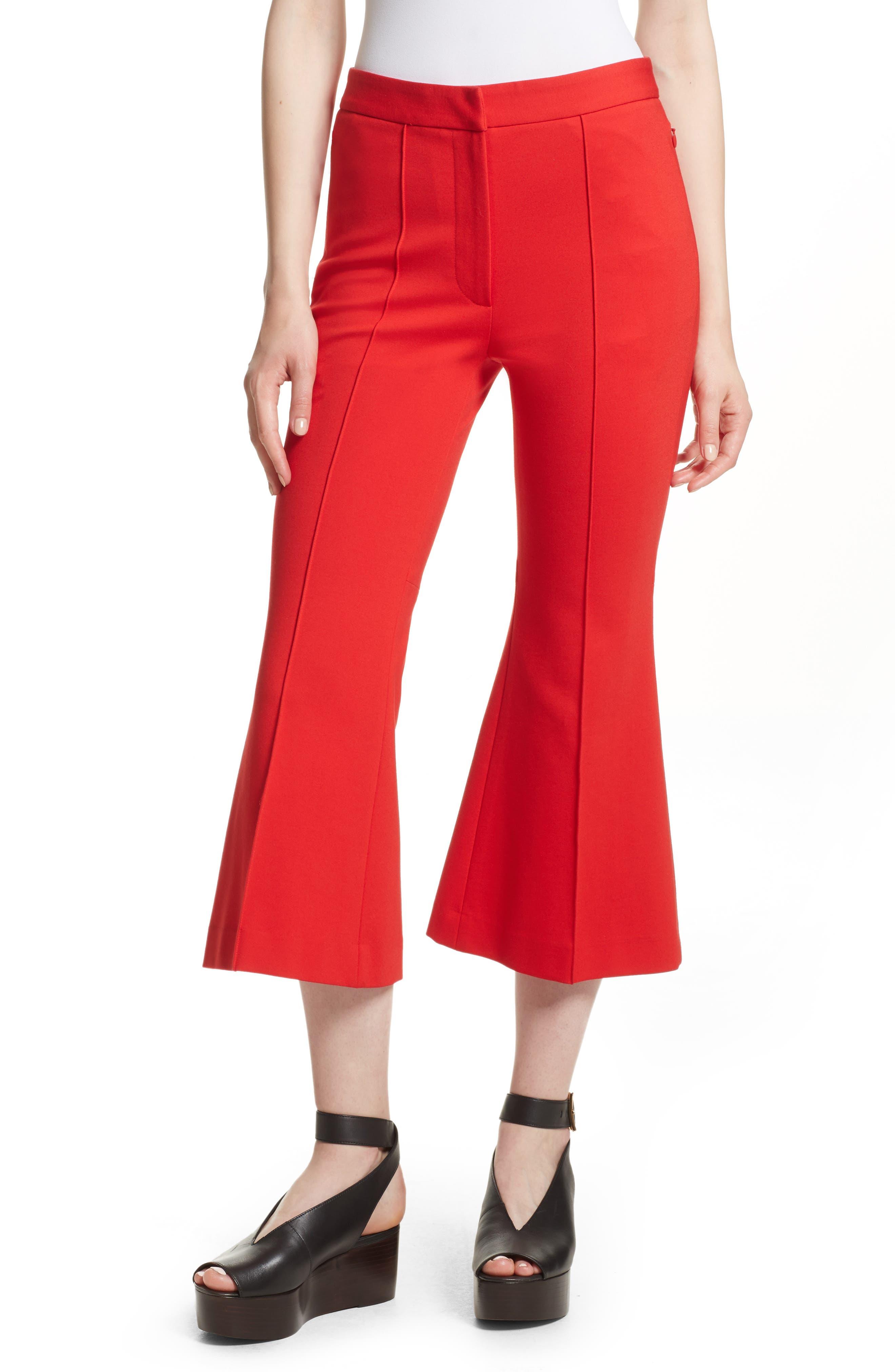 Tibi Crop Flare Leg Pants