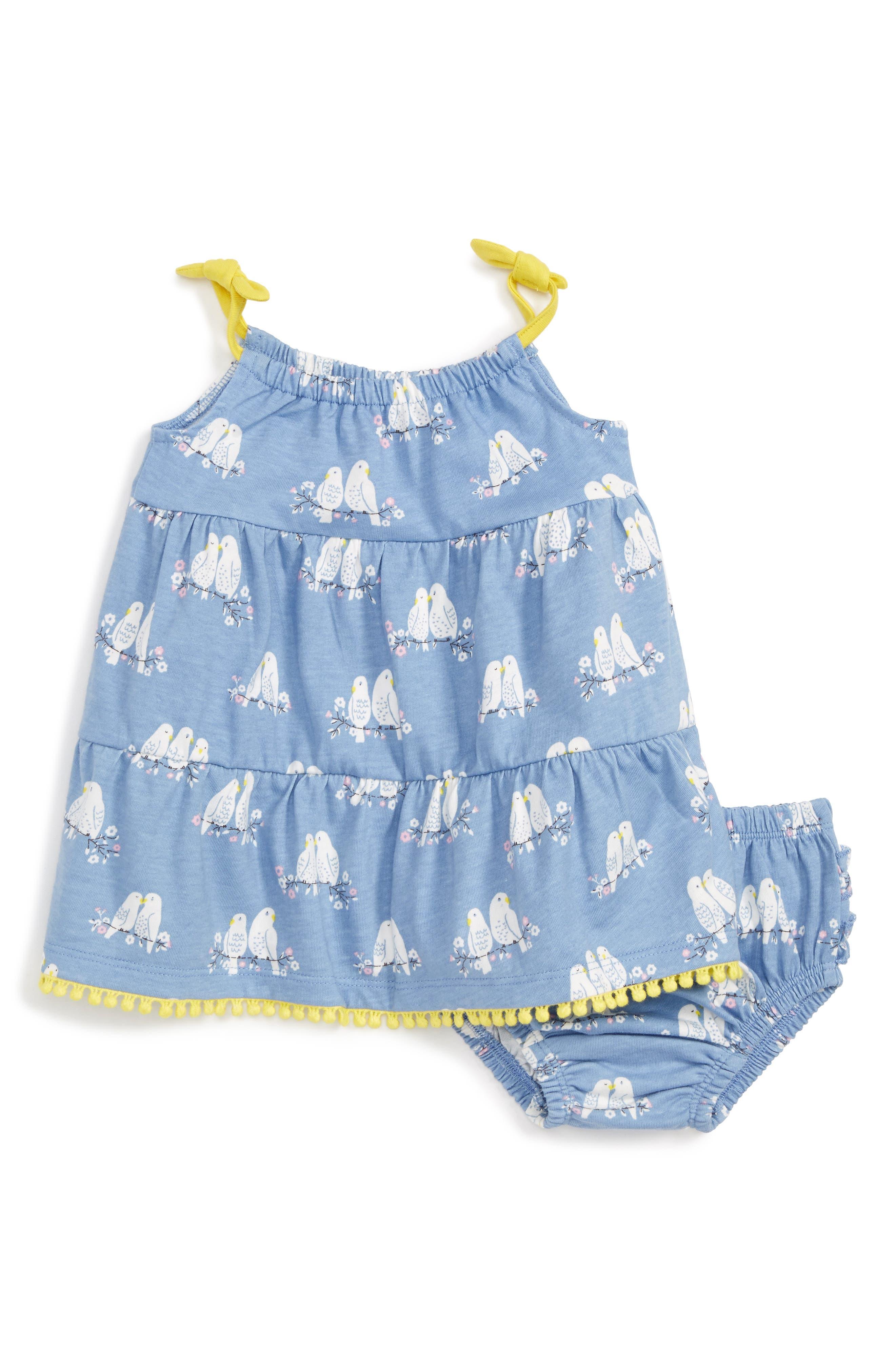 Mini Boden Summer Tiered Dress (Baby Girls & Toddler Girls)