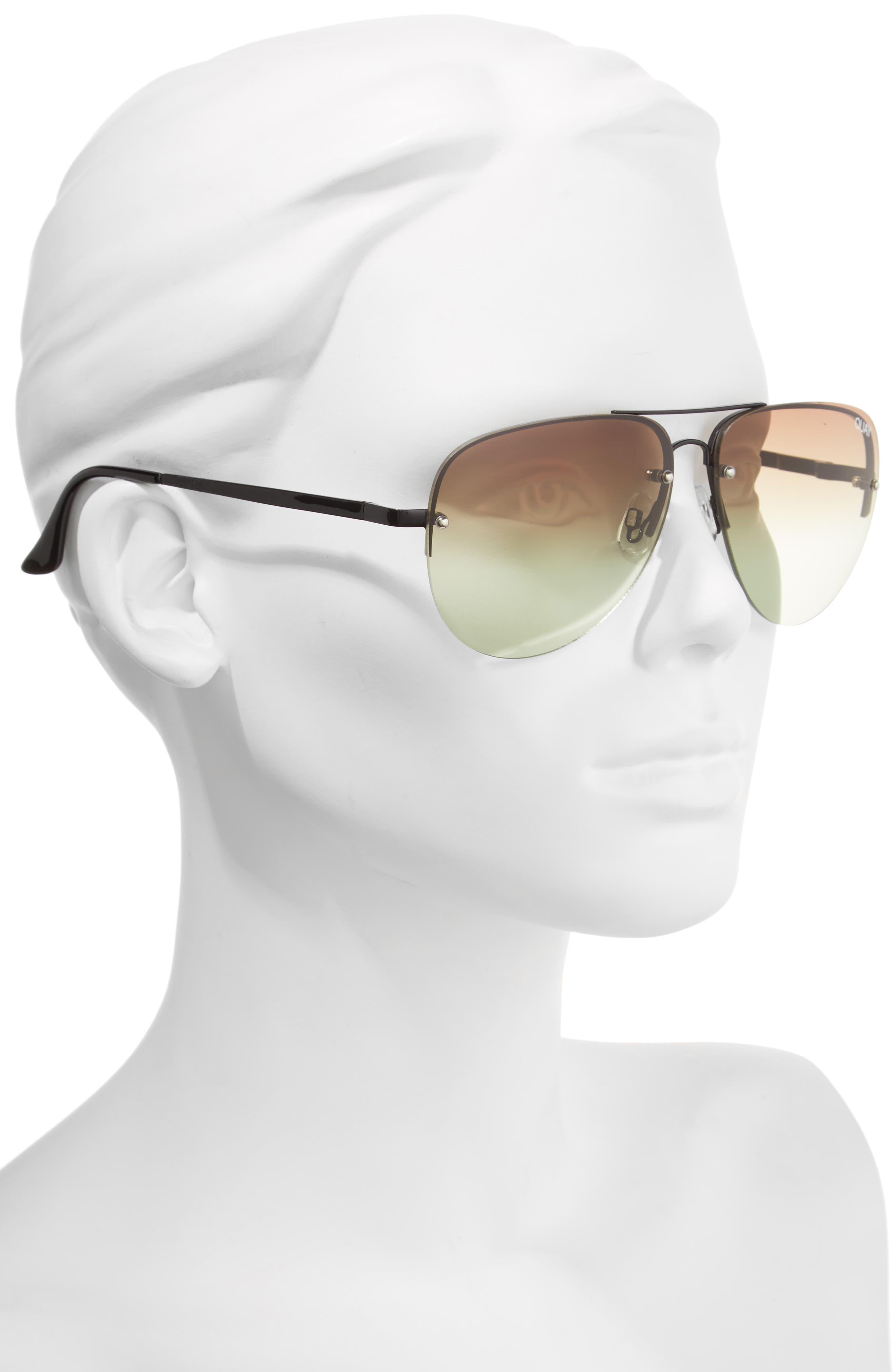 Alternate Image 2  - Quay Australia Muse Fade 62mm Aviator Sunglasses