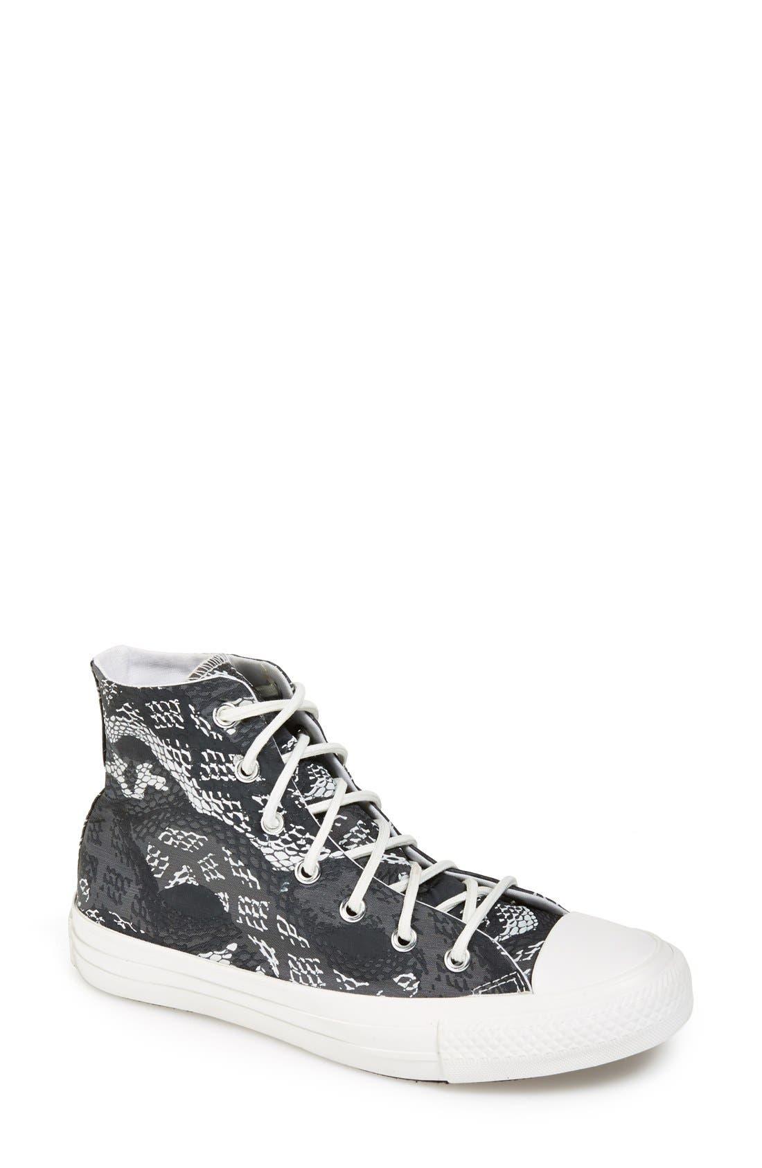 Main Image - Converse Chuck Taylor® 'Reptile Print' High Top Sneaker (Women)