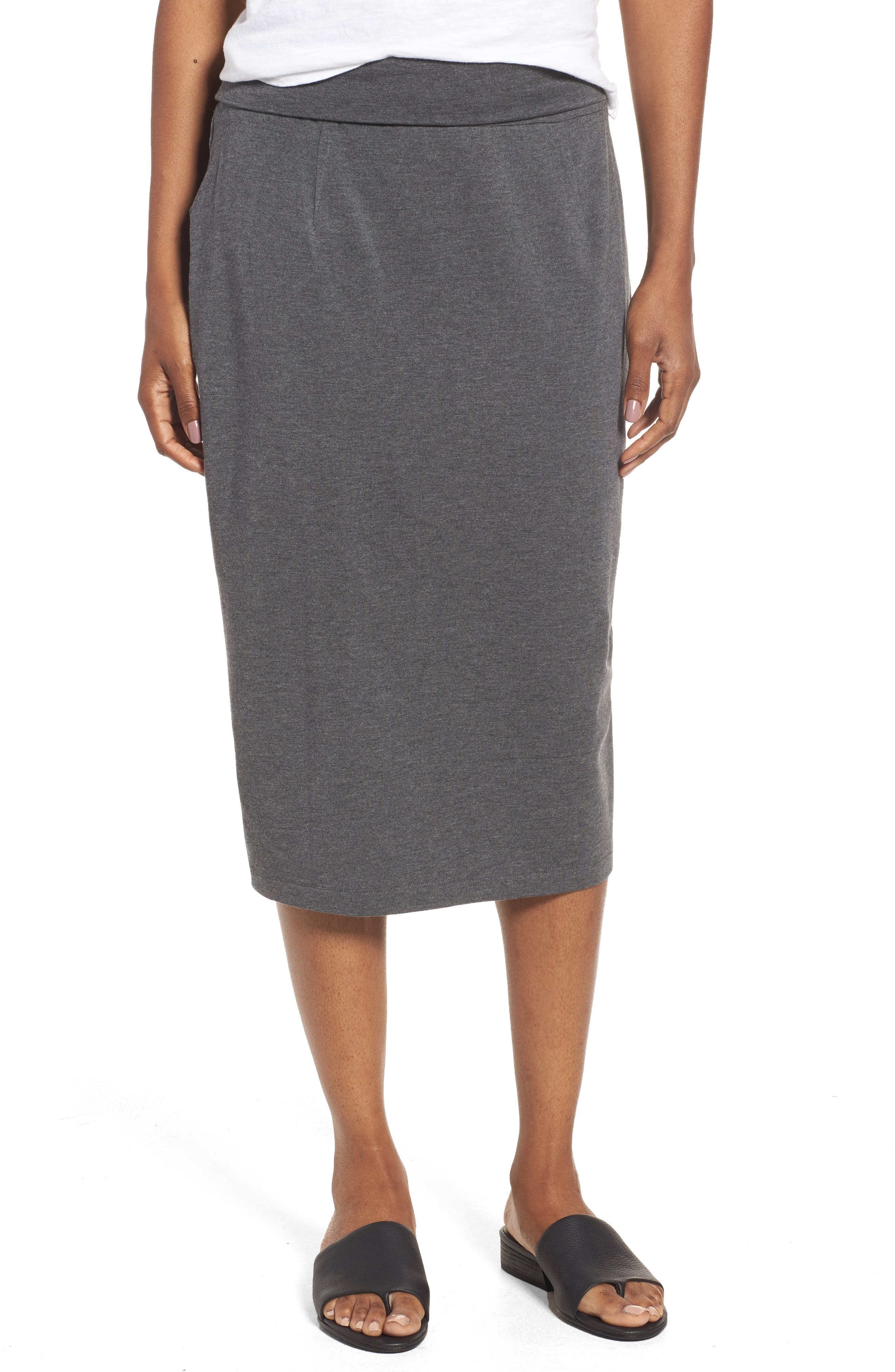 Eileen Fisher Cozy Jersey Pencil Skirt (Regular & Petite)