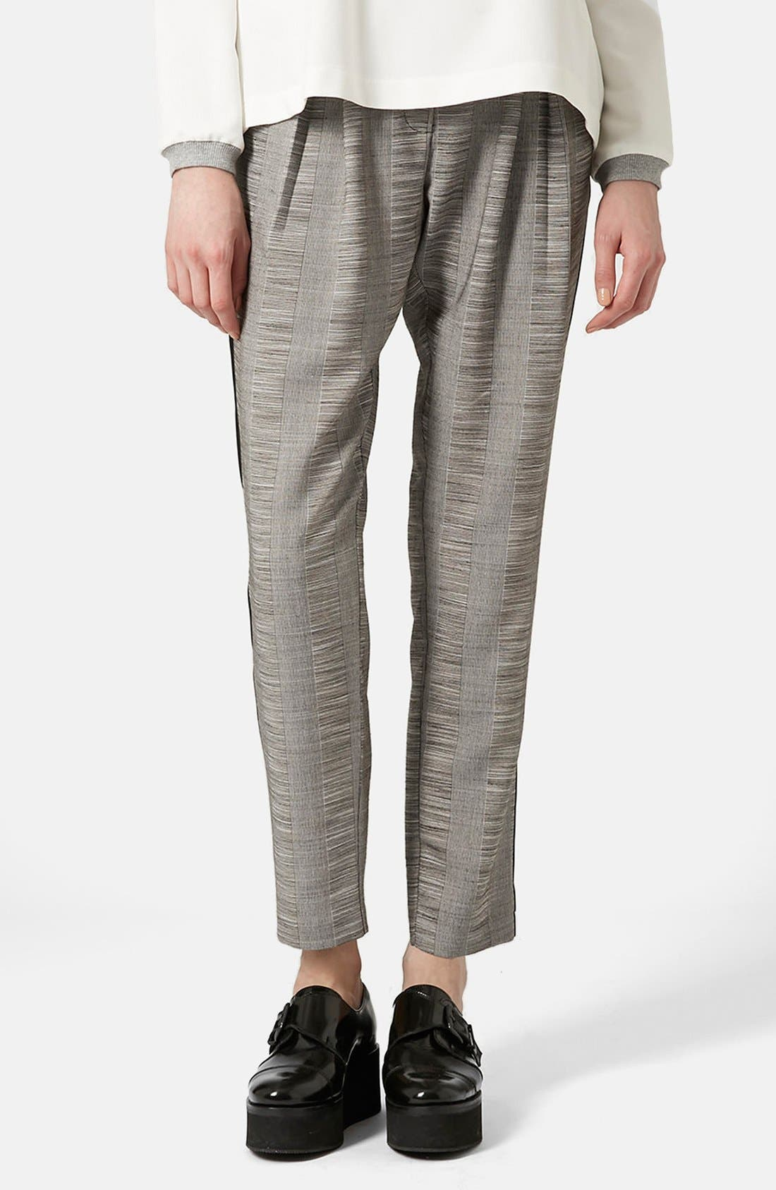 Alternate Image 1 Selected - Topshop Check Tailored Jogger Pants